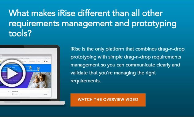 Watch the iRise Product Tool - Fast Prototyping Tool and Requirements Management