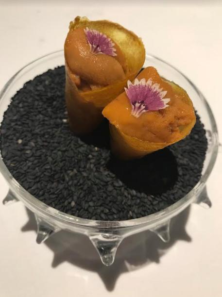"""""""Mango Wasabi Uni Sundae"""" at Gaggan in Bangkok"""