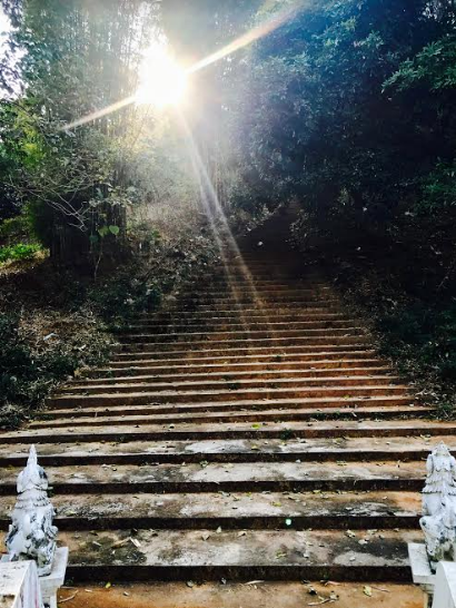 Walk up 960 steps to get to the temple