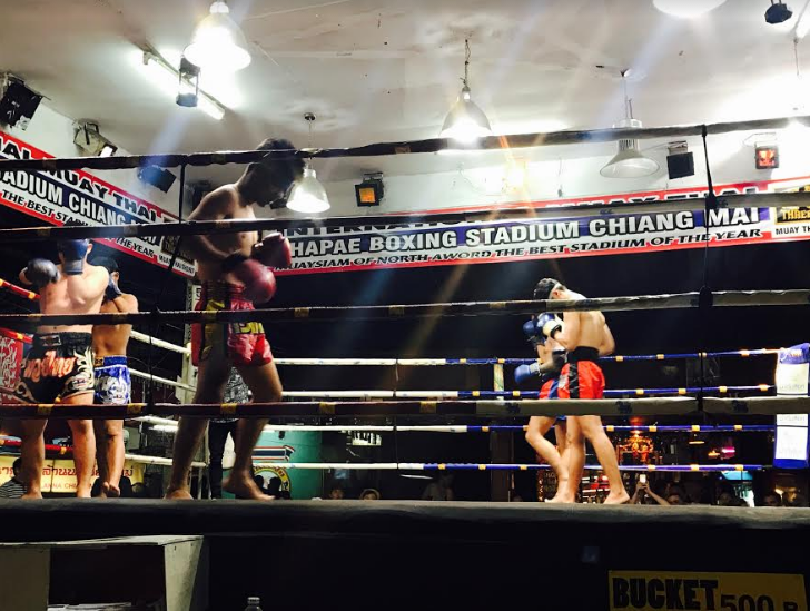 Blindfold Boxing at Thapae Boxing Stadium in Chiang Mai, Thailand