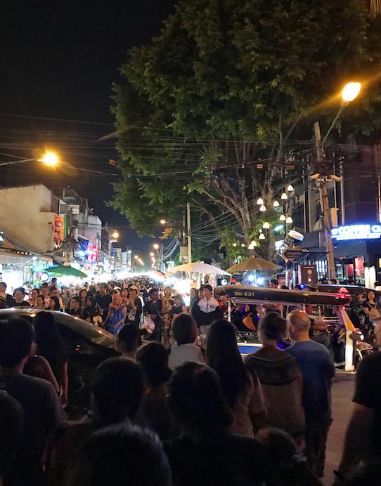 Night Market Crowd in Chiang Mai
