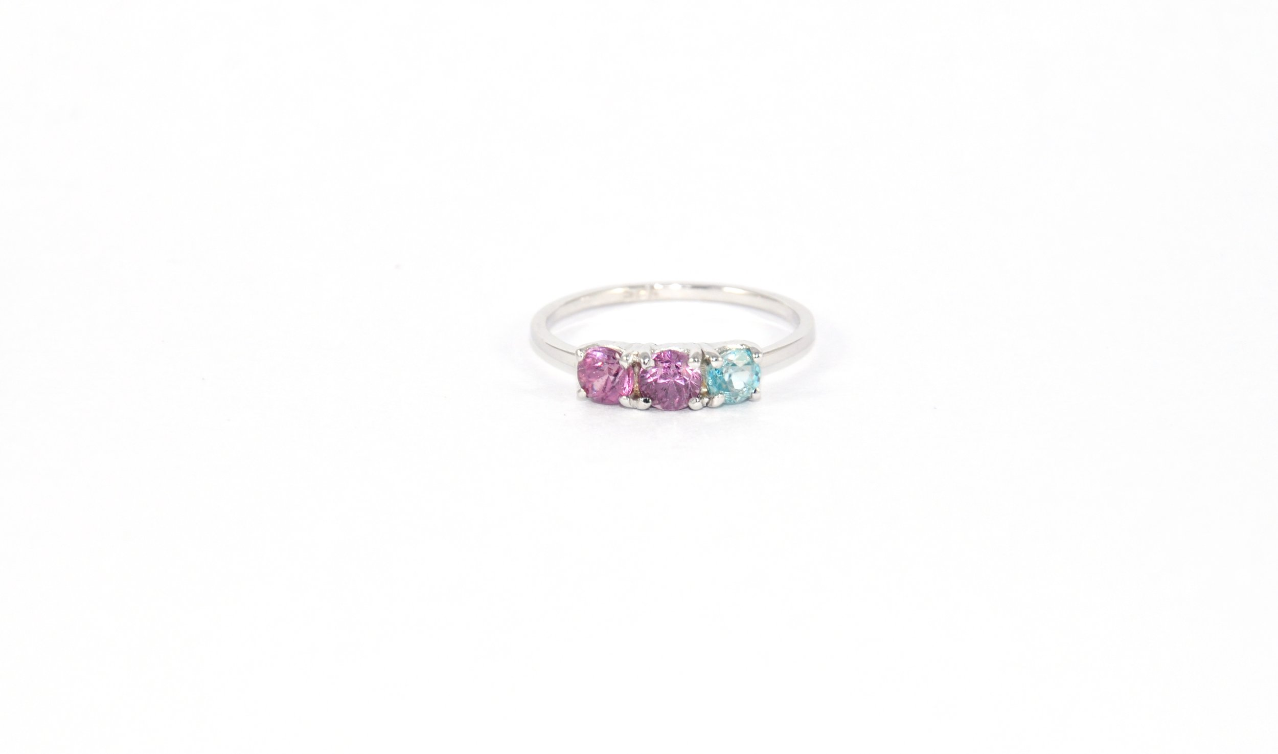 3 Stone Spinel Ring - Prong Setting