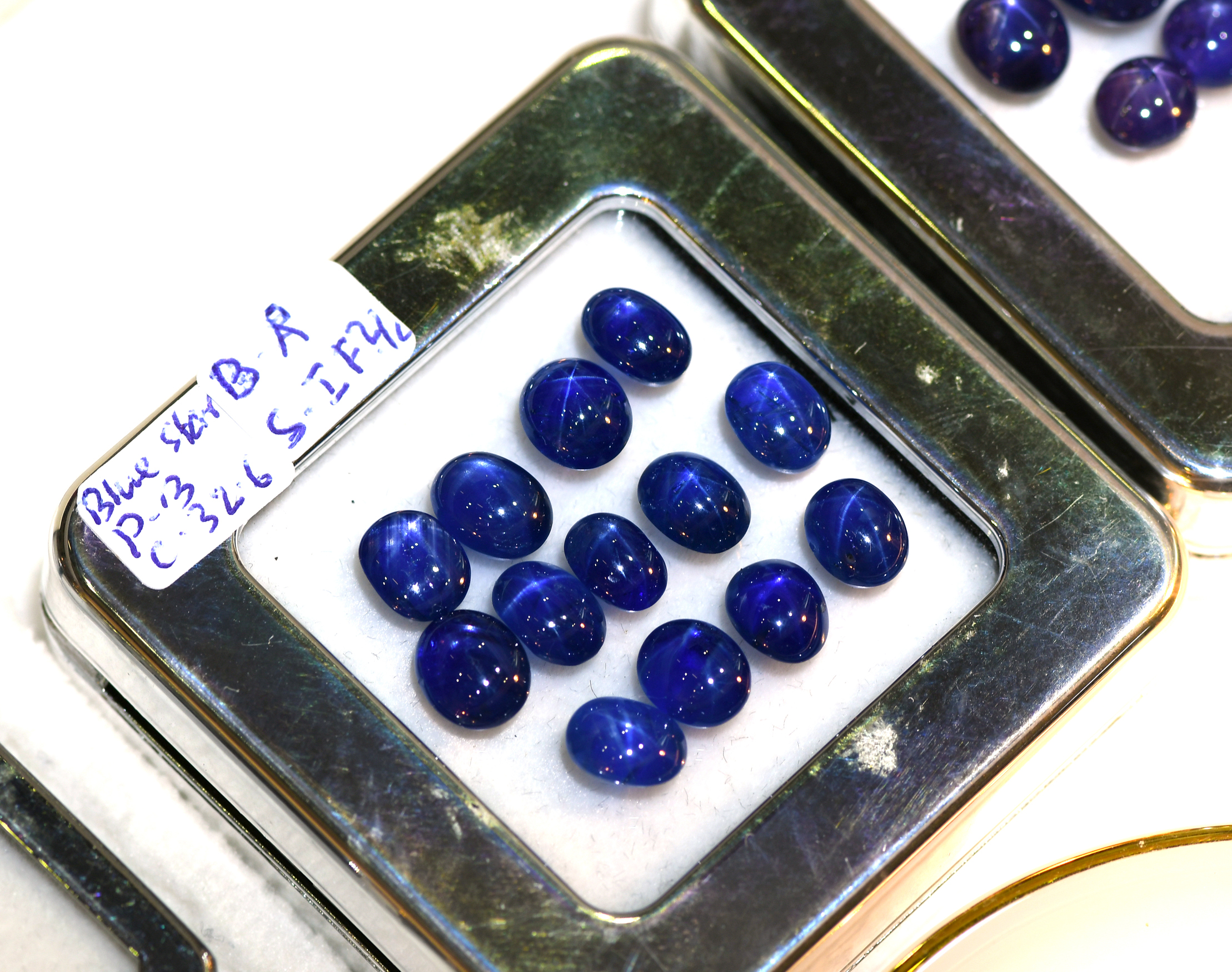 Lot of Unheated Blue Star Sapphires. Absolutely love the colour!