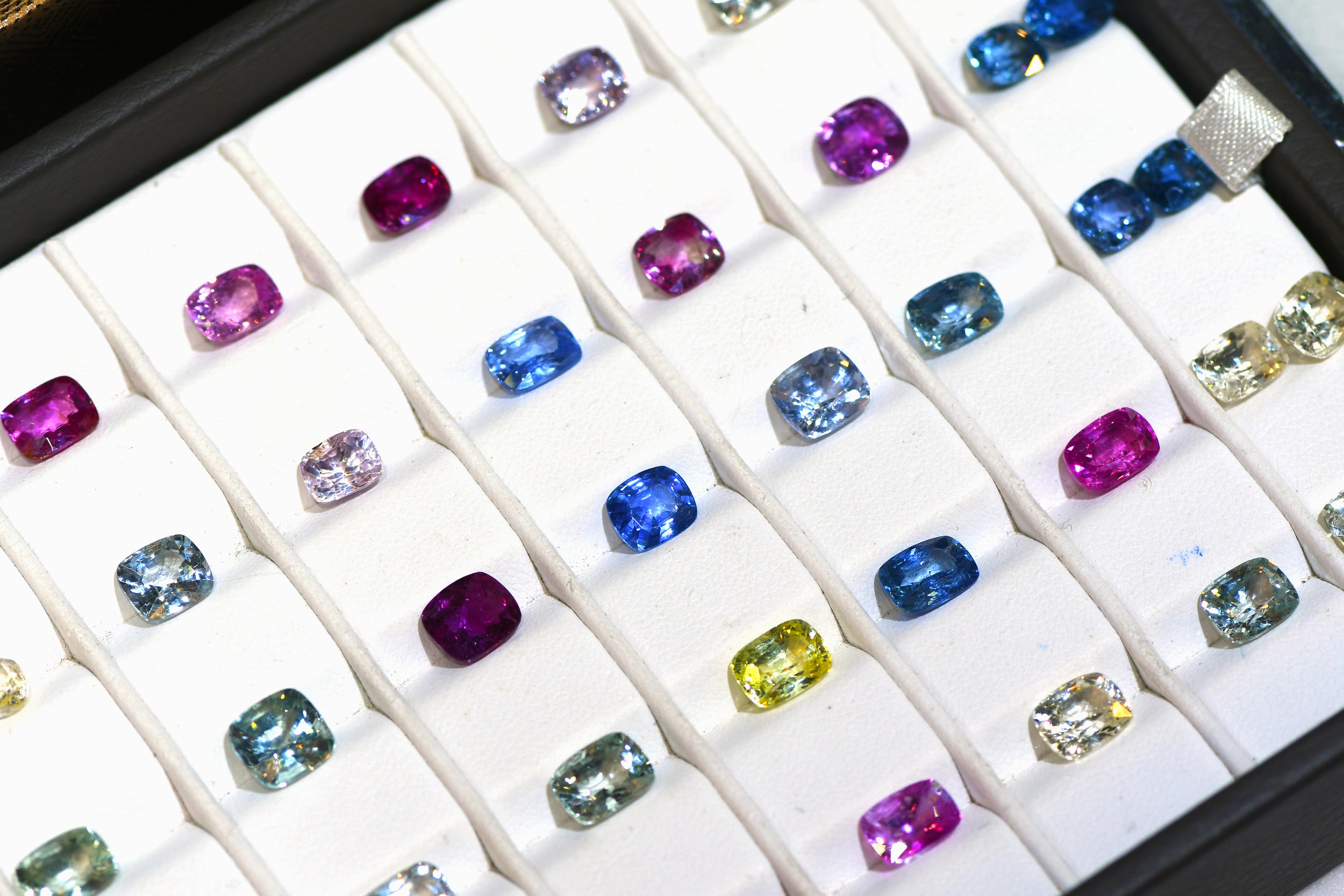 Lot of Faceted Sapphires of Multiple Colours