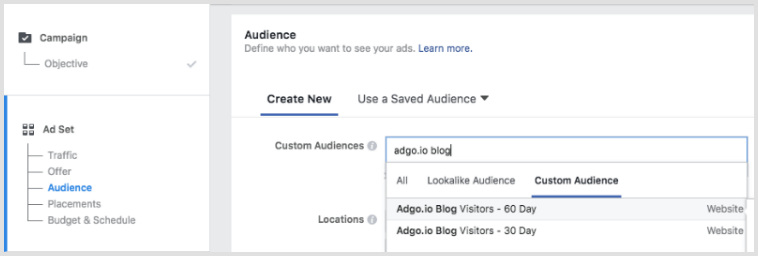 Facebook Ad Set - Custom Audience Selection.png