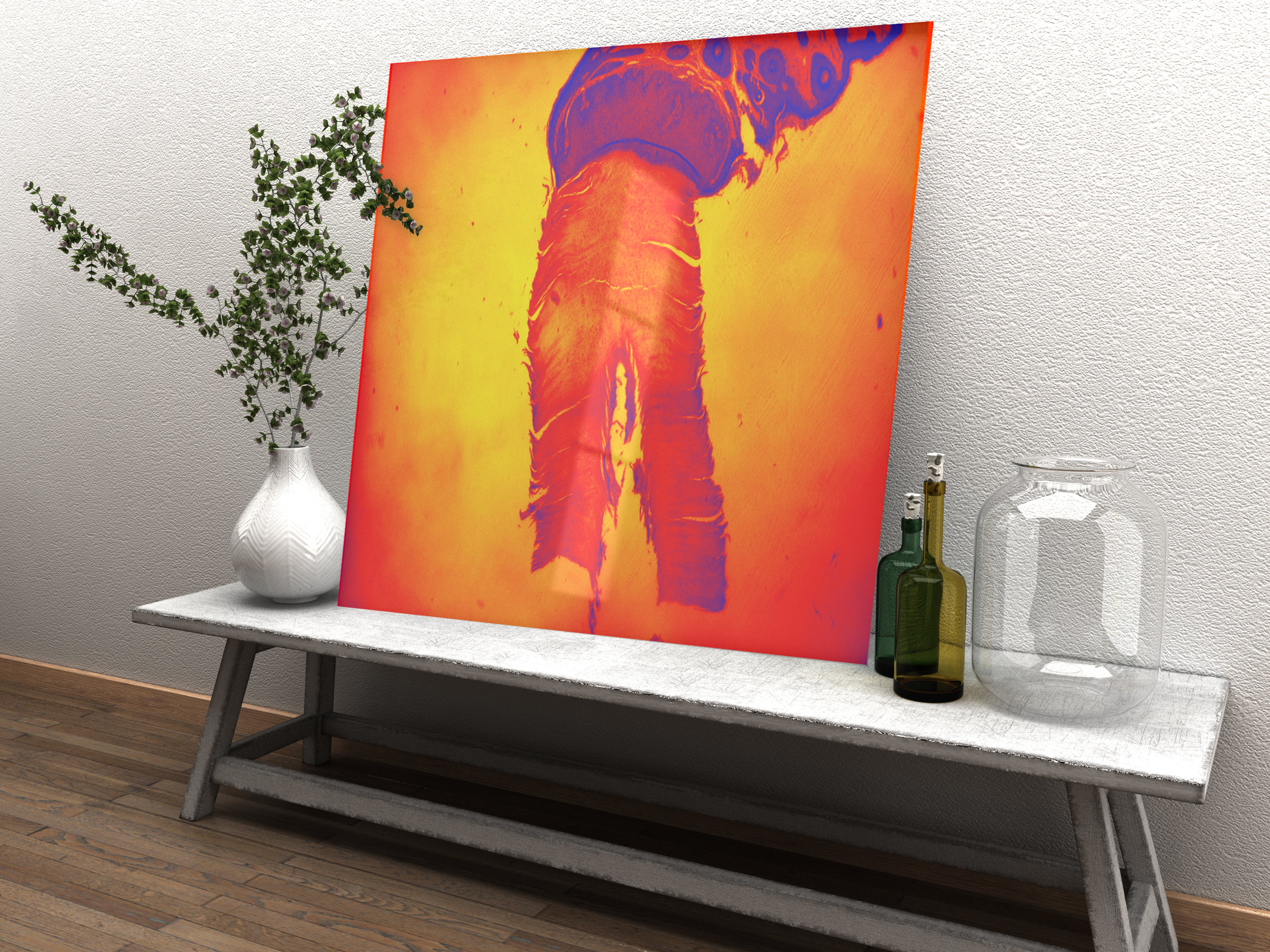 Realistic Hanging Art Mockup