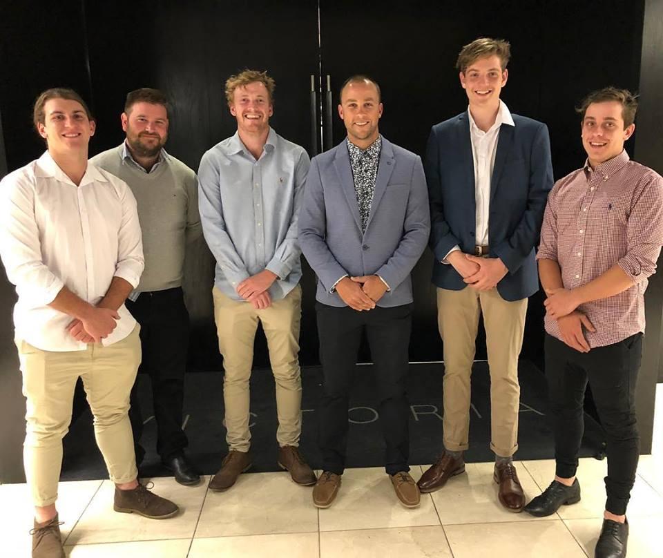 Levi McDonald, John Gill, Max Bower, Jamie Kidney, Nathan Carey and Mitchell Garrett