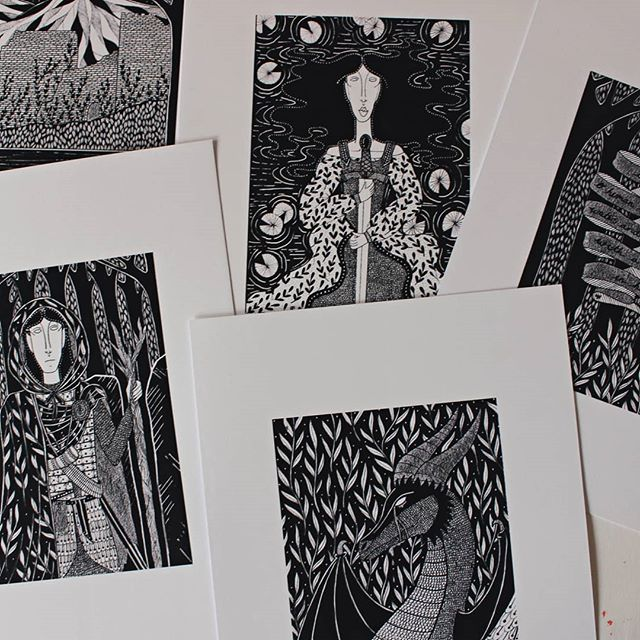 A few prints waiting for their gold to be added. Aiming to have these few finished and up in my etsy store by tomorrow. I'm making limited edition prints of all my inktober pieces, each hand finished with gold ink, £9.95 each! And free UK delivery. Link to my etsy shop in my bio. . . . #folklore #monochrome #fineliner #swanlake #swansong #swans #kingsandqueens #studio #studioscenes #artoftheday #flowersinherhair #illustration #fineartist #etsyselleruk #girlsinwork #womenwhodraw #fairytales #magical #asecondofwhimsy #etsyseller #indiemaker #etsy #mondaymotivation #mondayvibes #brimfulofcurious #thatvelvetfeeling #ourstudiotime #hiddengems #letmetellyouastory