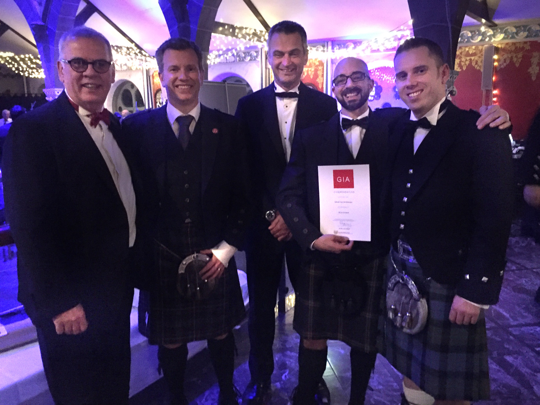 Saltcoats Team Receiving Award