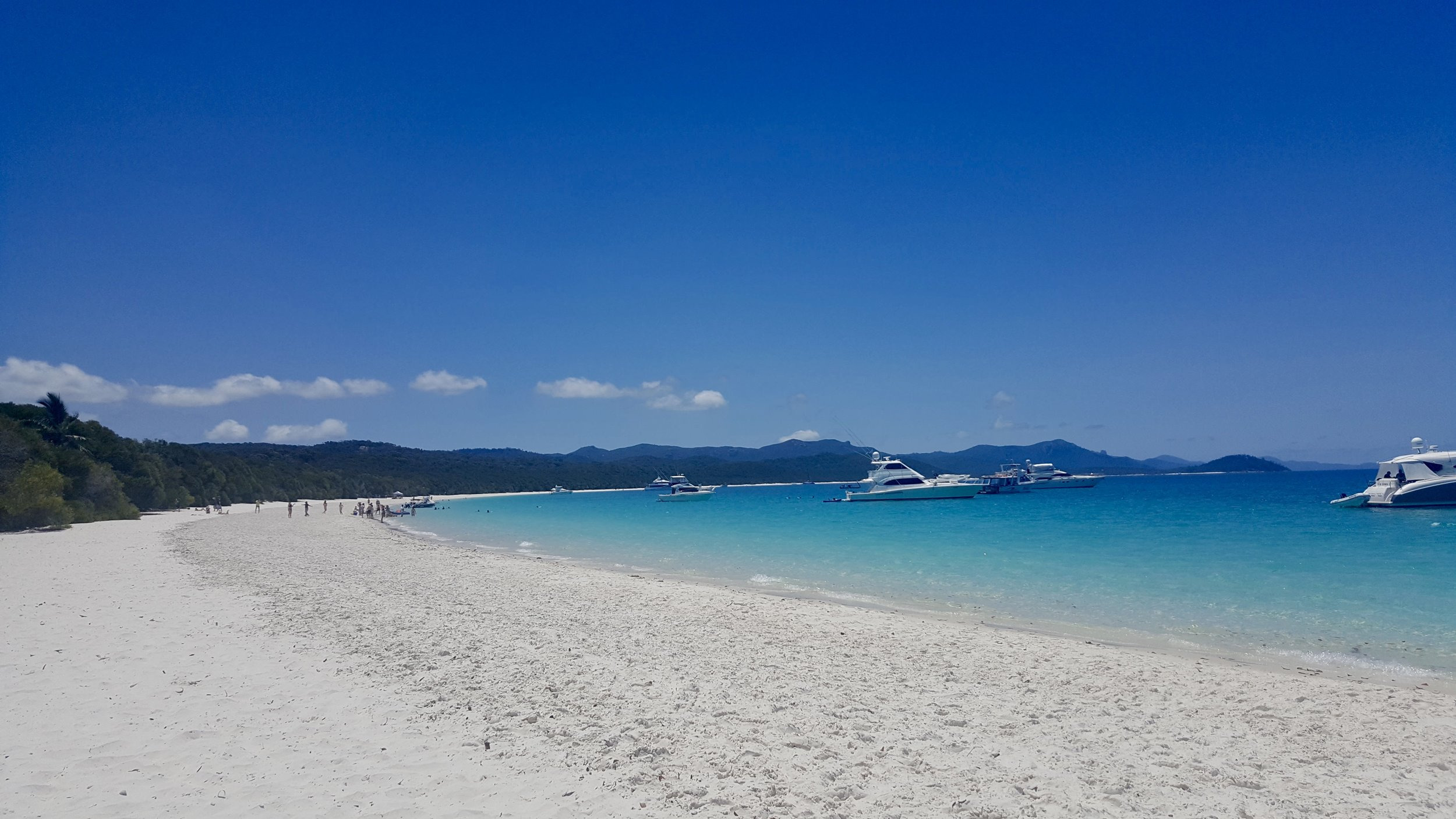 The silica sand and turquoise blue waters of Whitehaven Beach, Whitsundays, Queensland, Australia