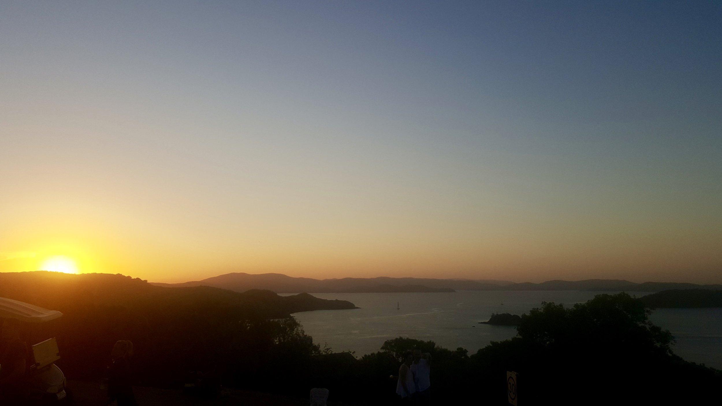 Sunset at One Tree Hill, Hamilton Island, Whitsundays, Queensland, Australia