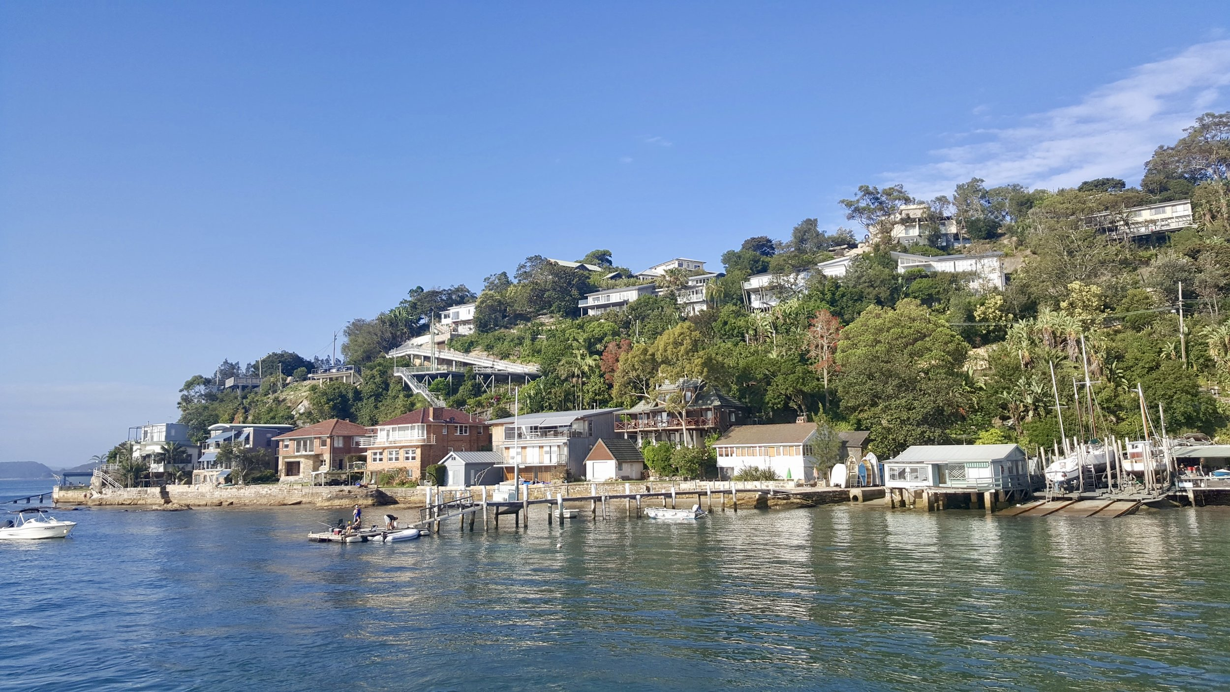Houses on the water at Palm Beach, Sydney, New South Wales