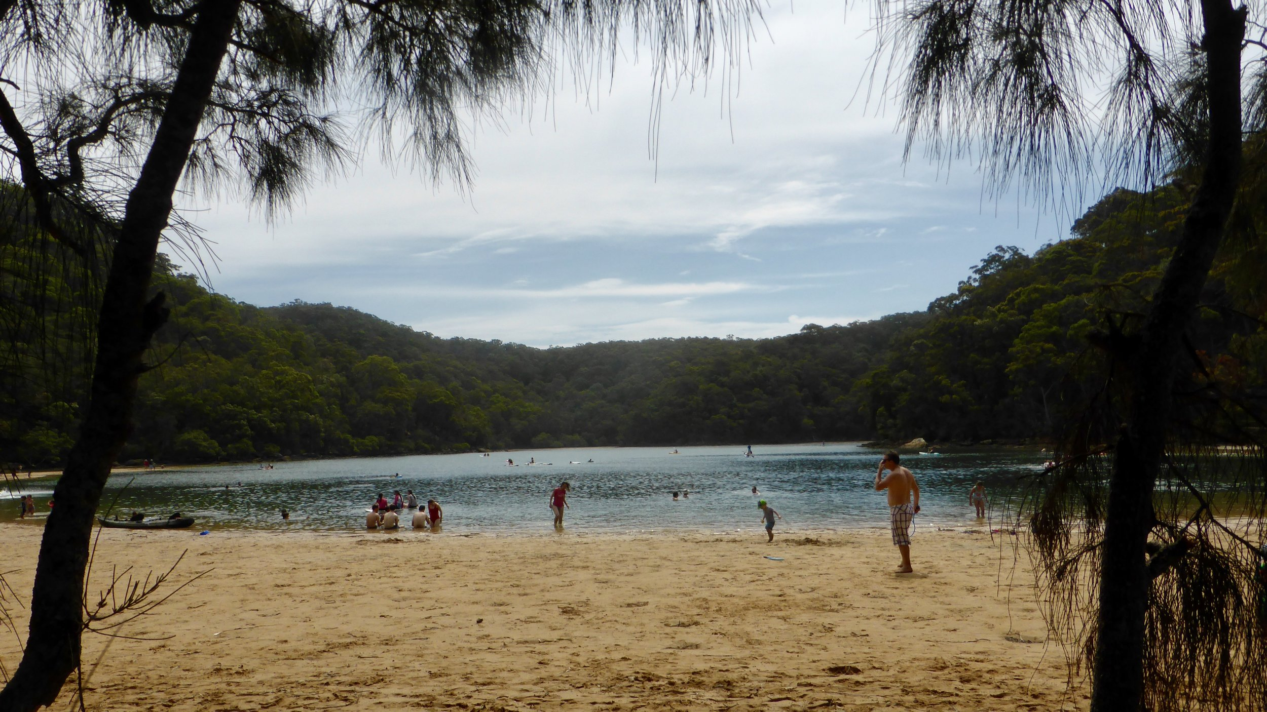The Basin, a short boat ride from Palm Beach, Northern Beaches, Sydney, New South Wales. Part of Ku-ring-gai Chase National Park