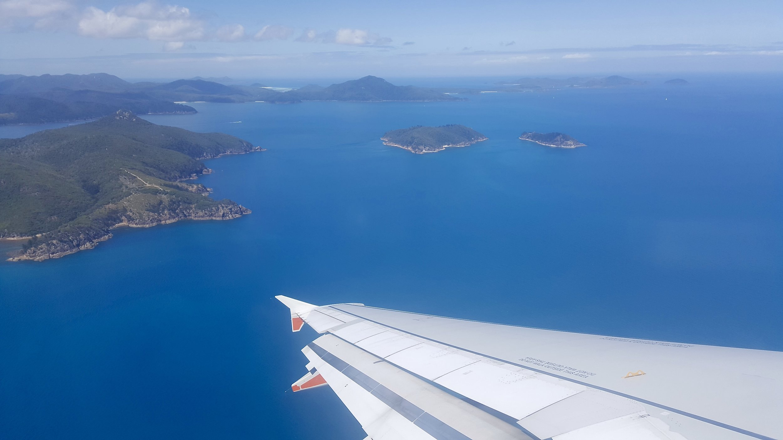 Whitsunday islands, from the aeroplane