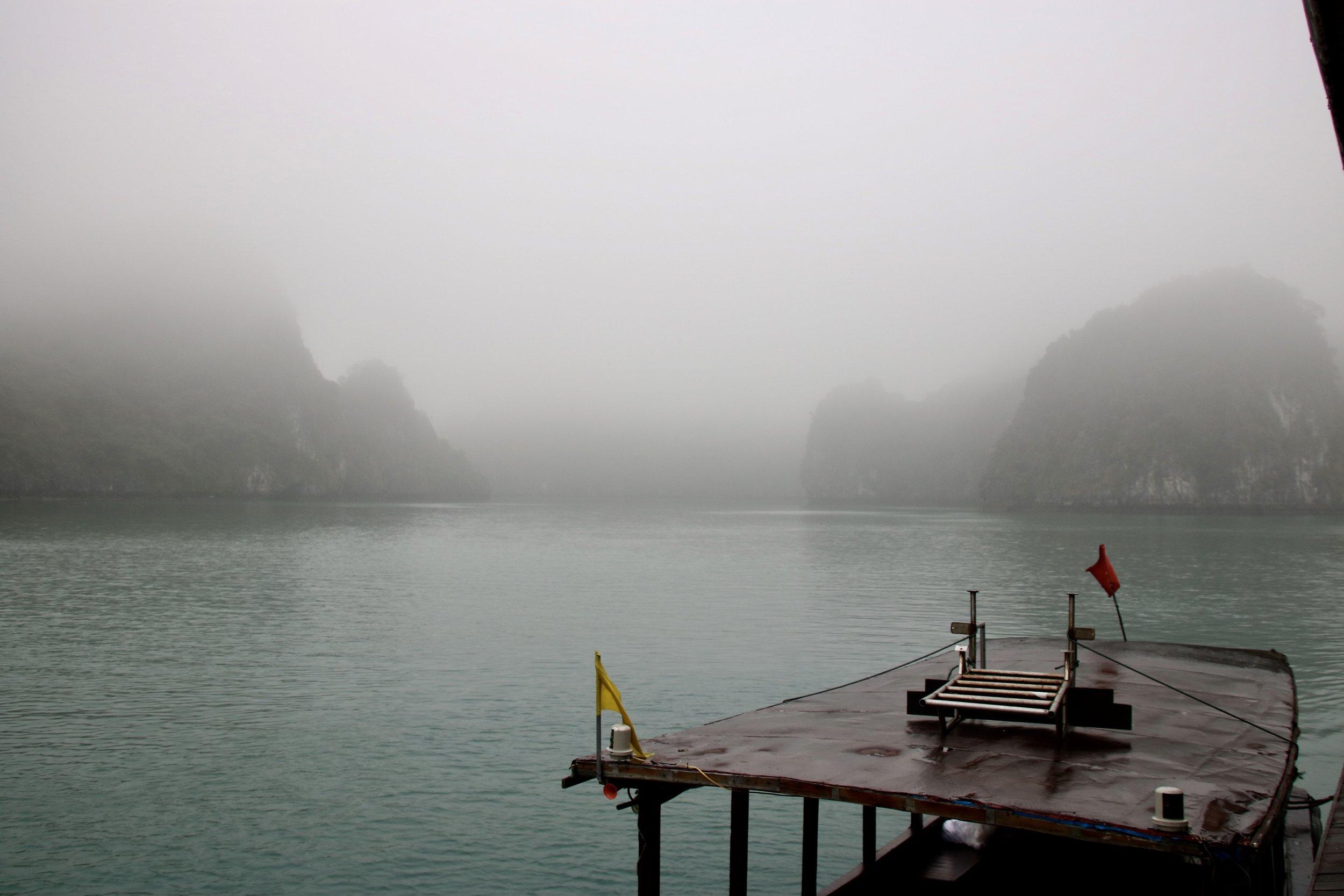 Mist in Bai Tu Long Bay