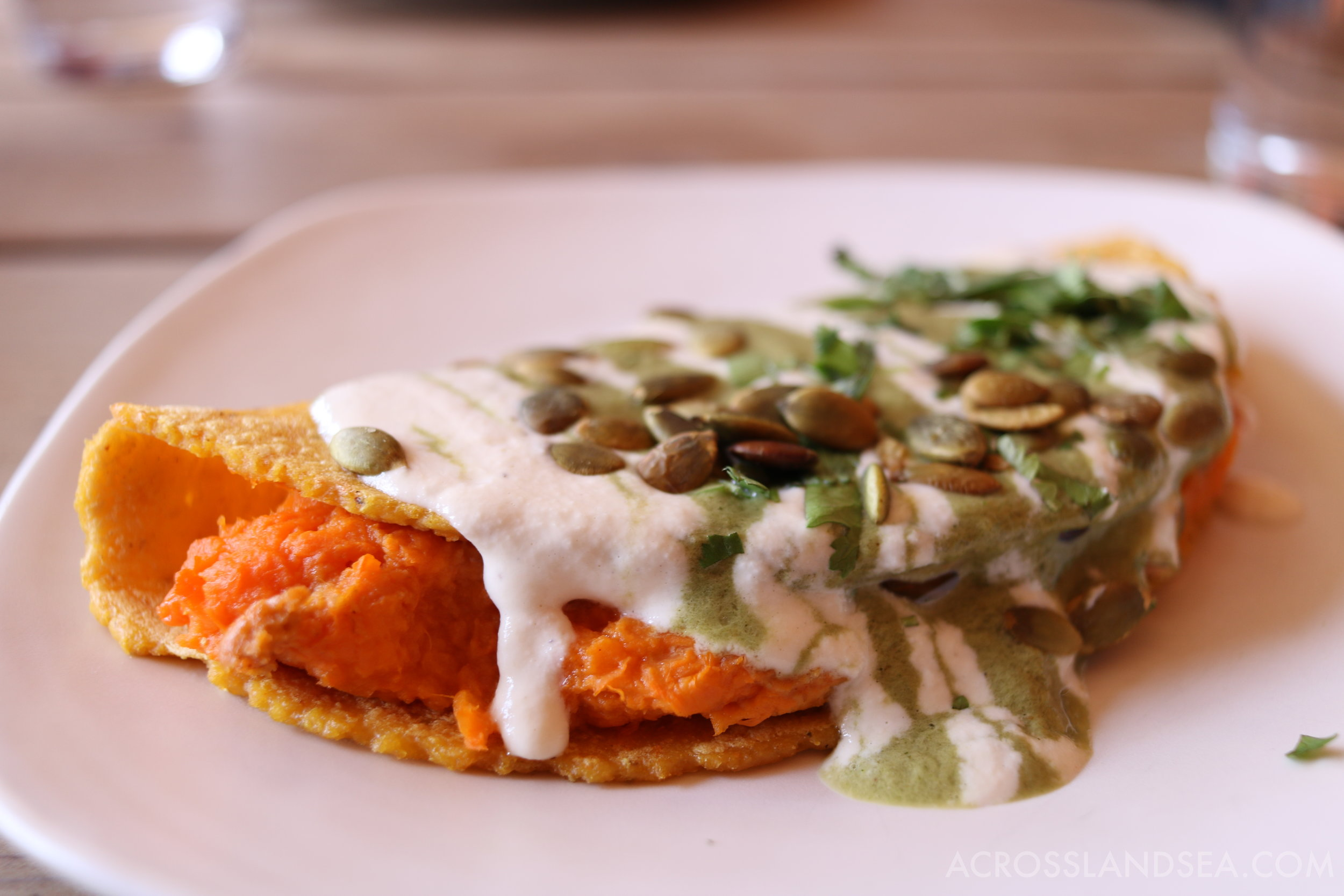 Gracias Madre's sweet potato tortilla