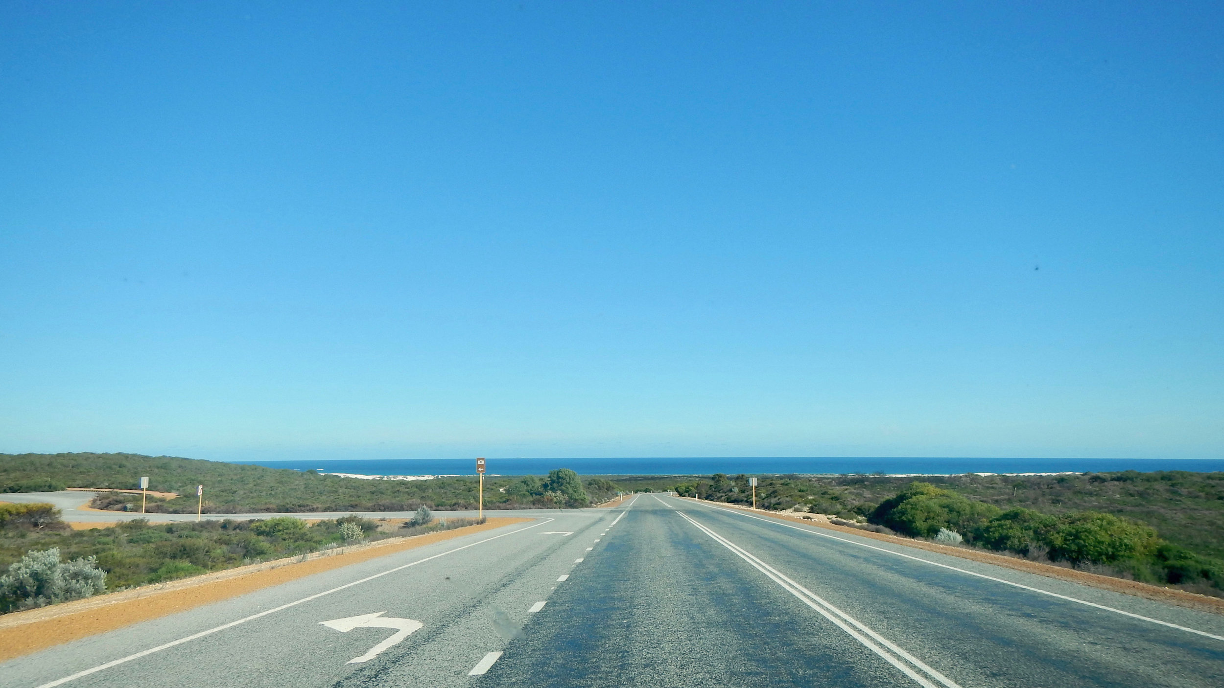 Road between Perth and Exmouth, Western Australia, @acrosslandsea