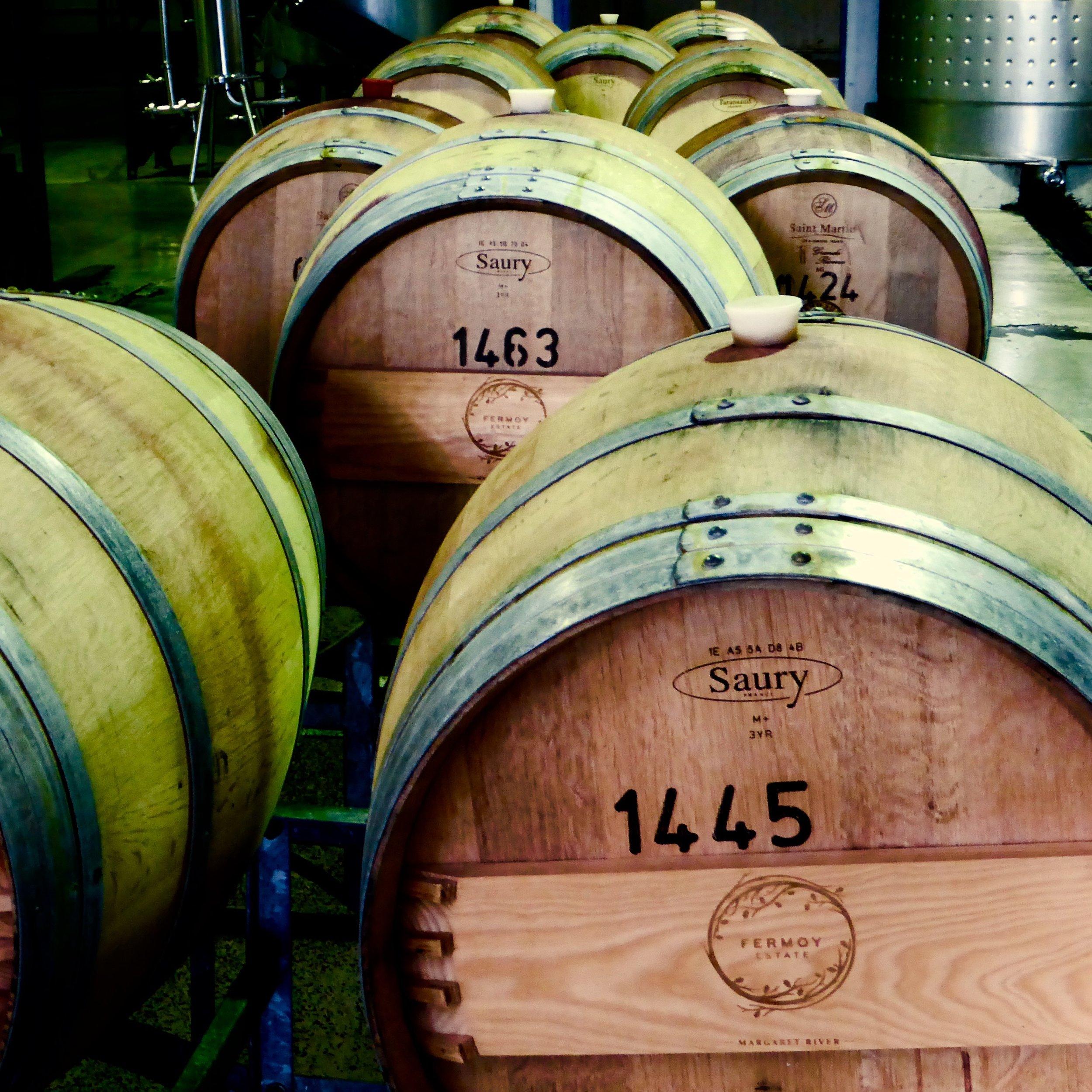 Wine barrels, Margaret River, Western Australia @acrosslandsea