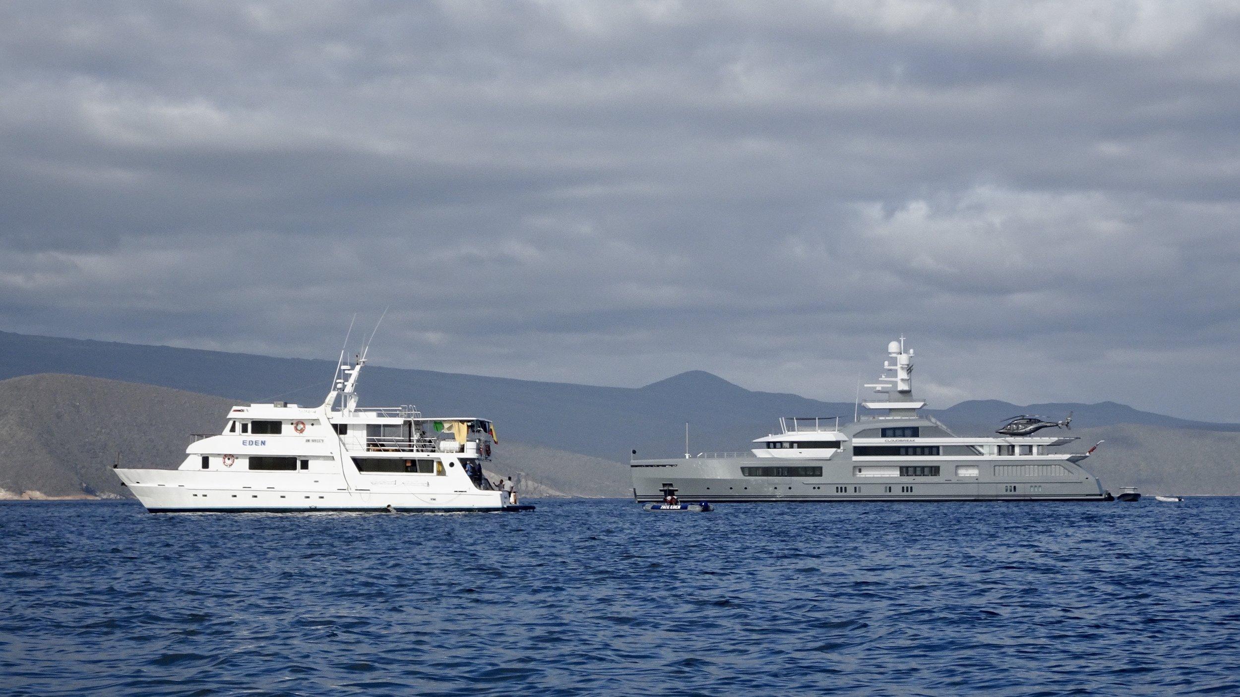 Eden and Cloudbreak, Galapagos Islands cruise boats, @acrosslandsea