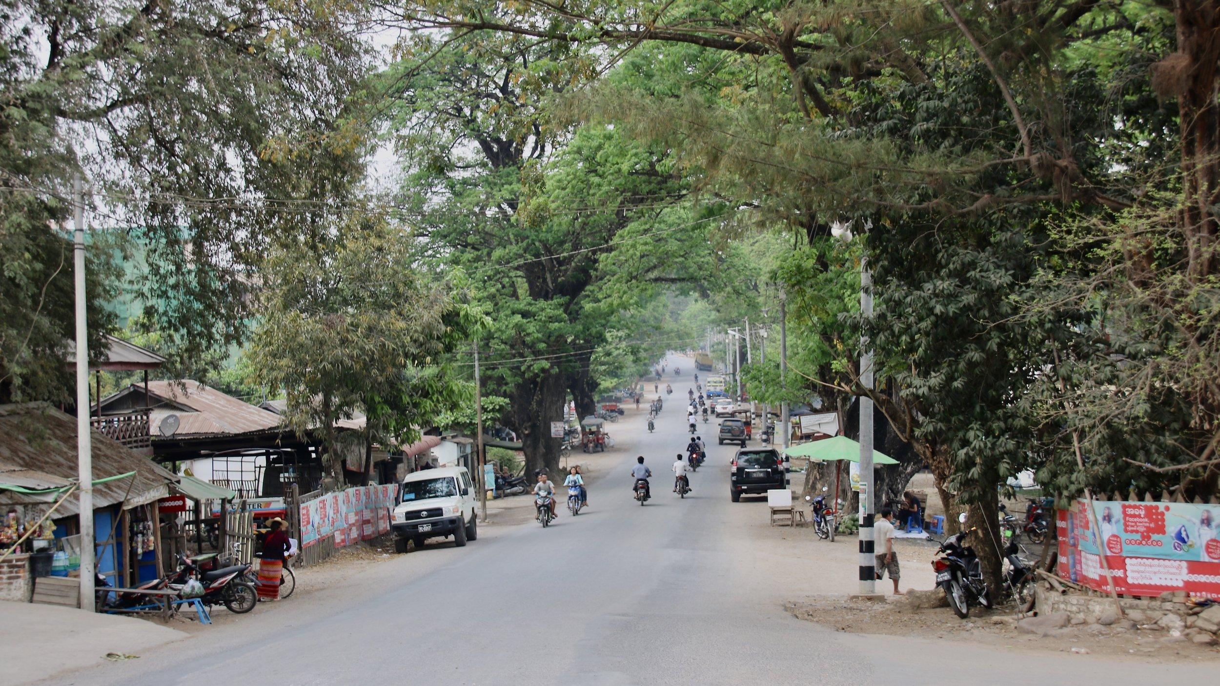 Hsipaw main Namtu Road, Myanmar @acrosslandsea