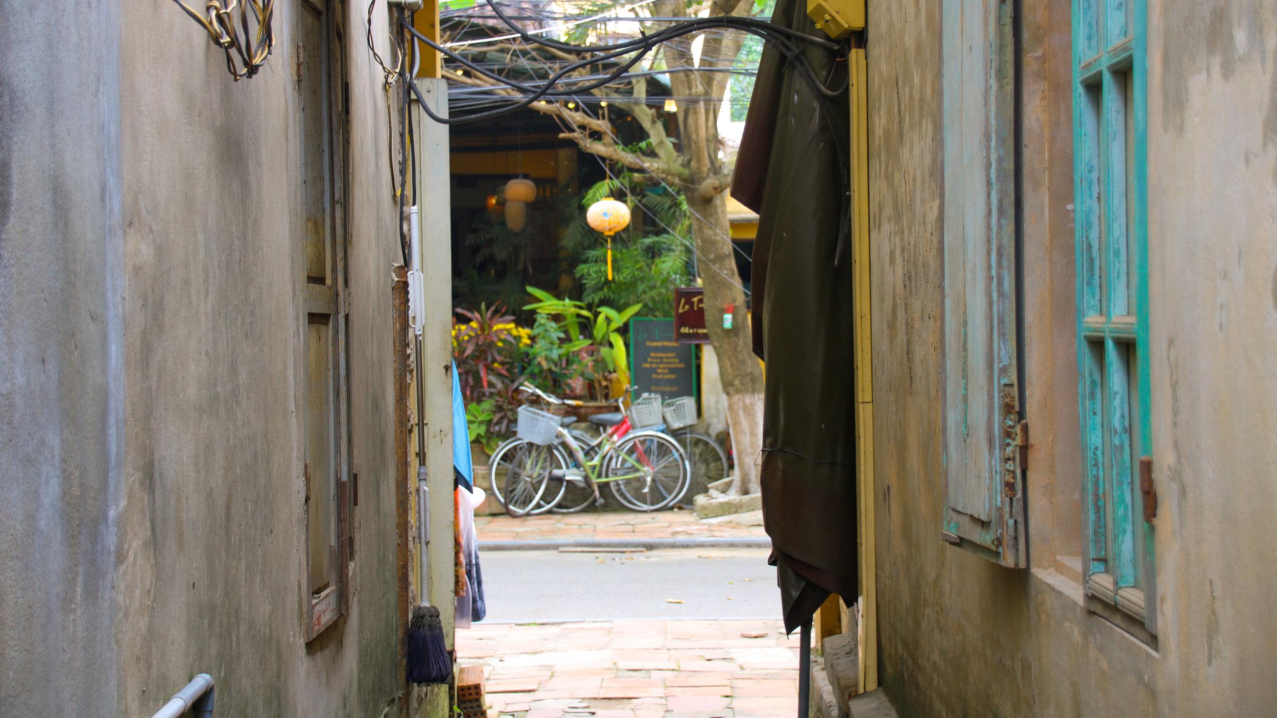 Alley way, Hoi An, Vietnam. Across Land & Sea