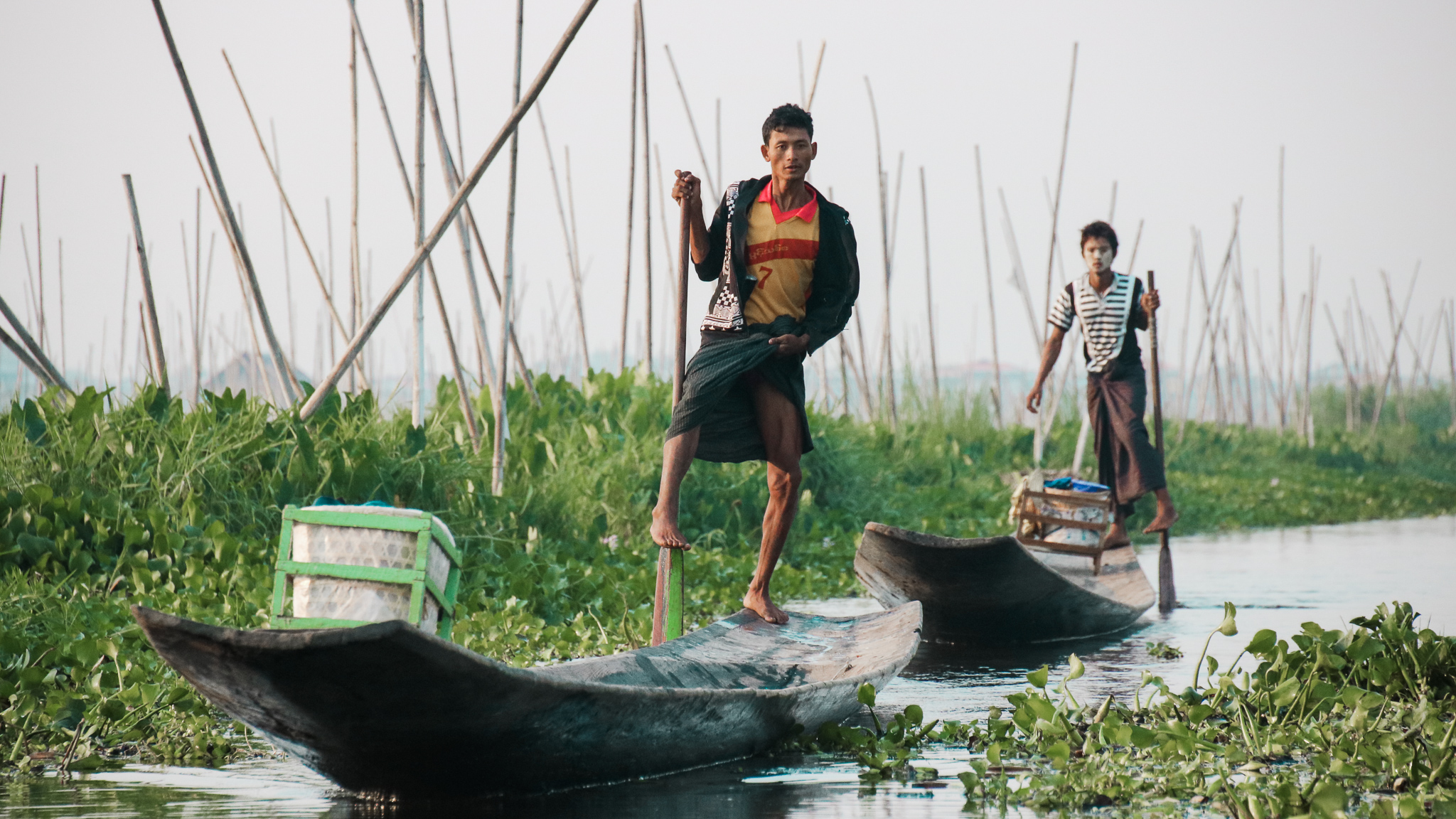 Boatman on Inle Lake, Myanmar