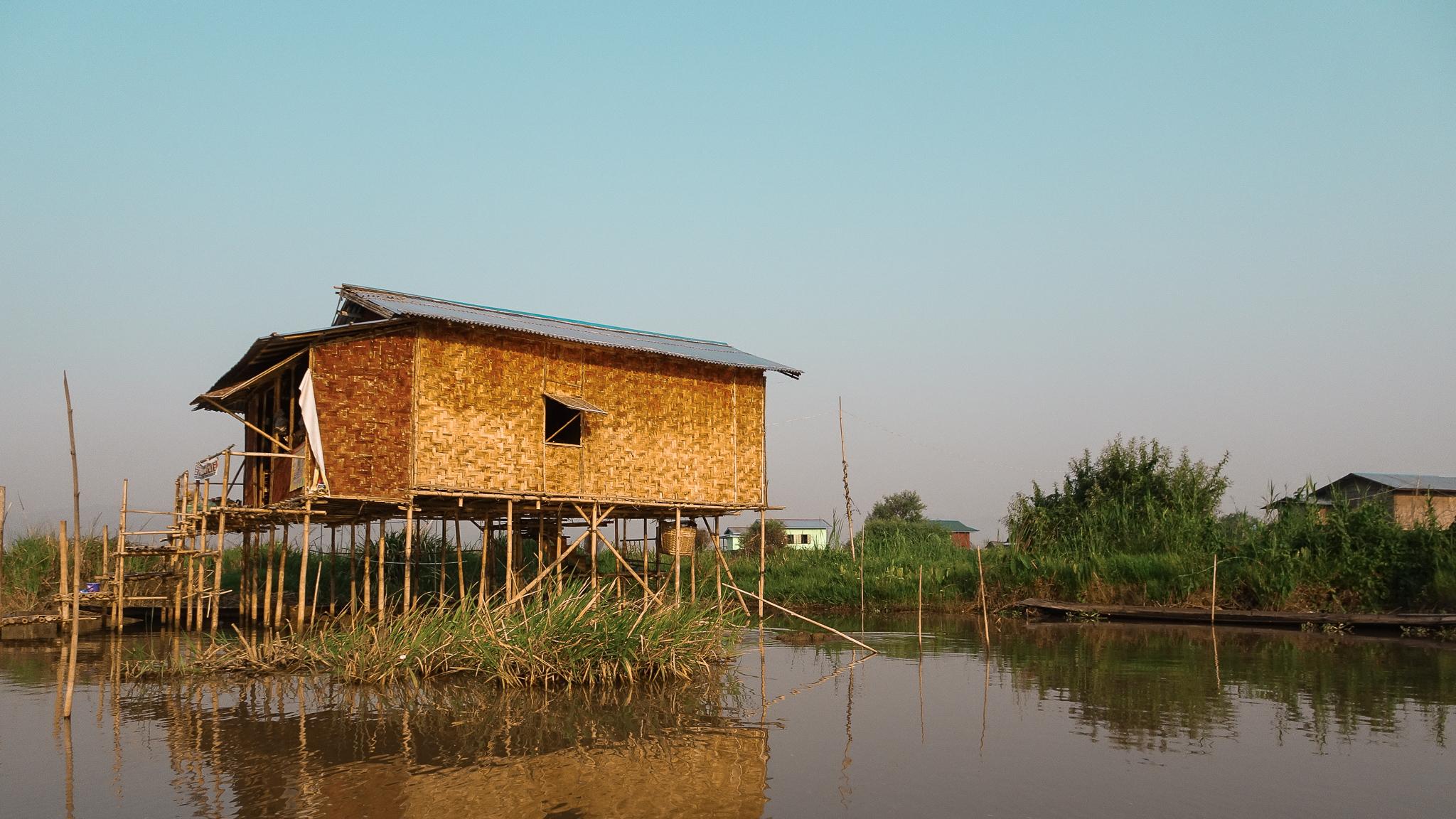 Stilt house, Inle Lake, Myanmar