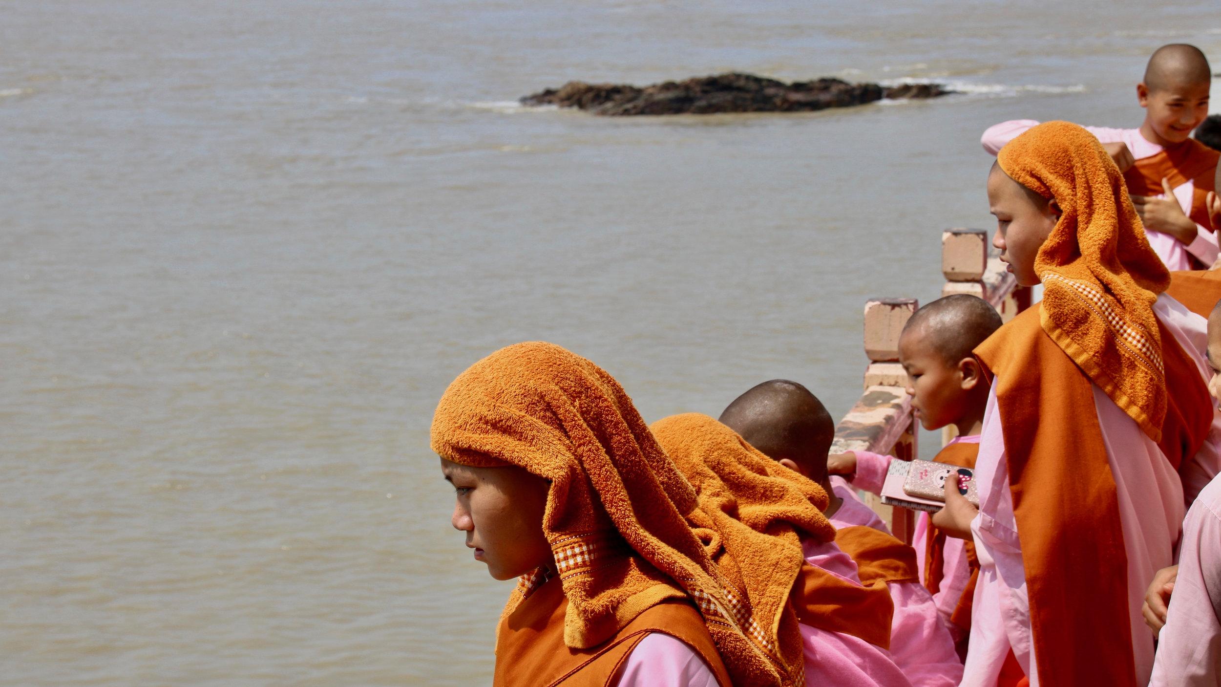 Nuns near Mawlamyine, Myanmar