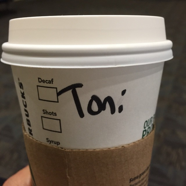 Come on @starbucks , no man spells his name that way. Not one.
