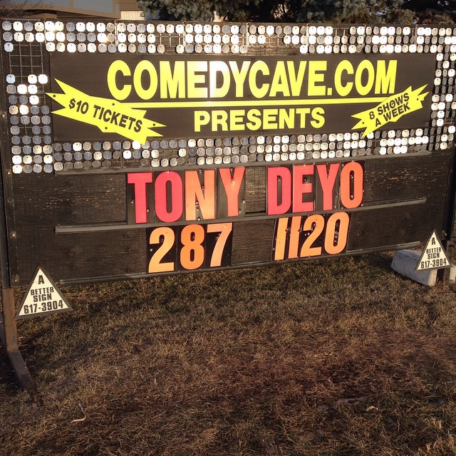 Aaahhh… the glitz and glamour that is show biz. I always knew that if I worked hard and got some lucky breaks, one day my name would be on a sign in unmatched, sun-bleached interchangeable letters.