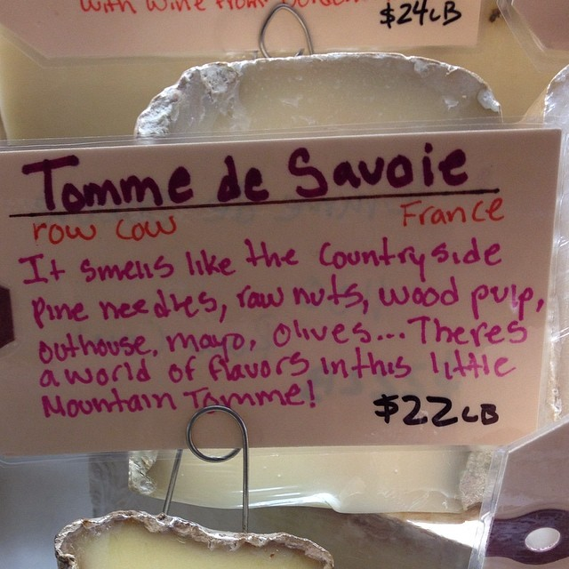 """Maybe when describing what you'll smell in a cheese, you should leave off """"outhouse""""."""