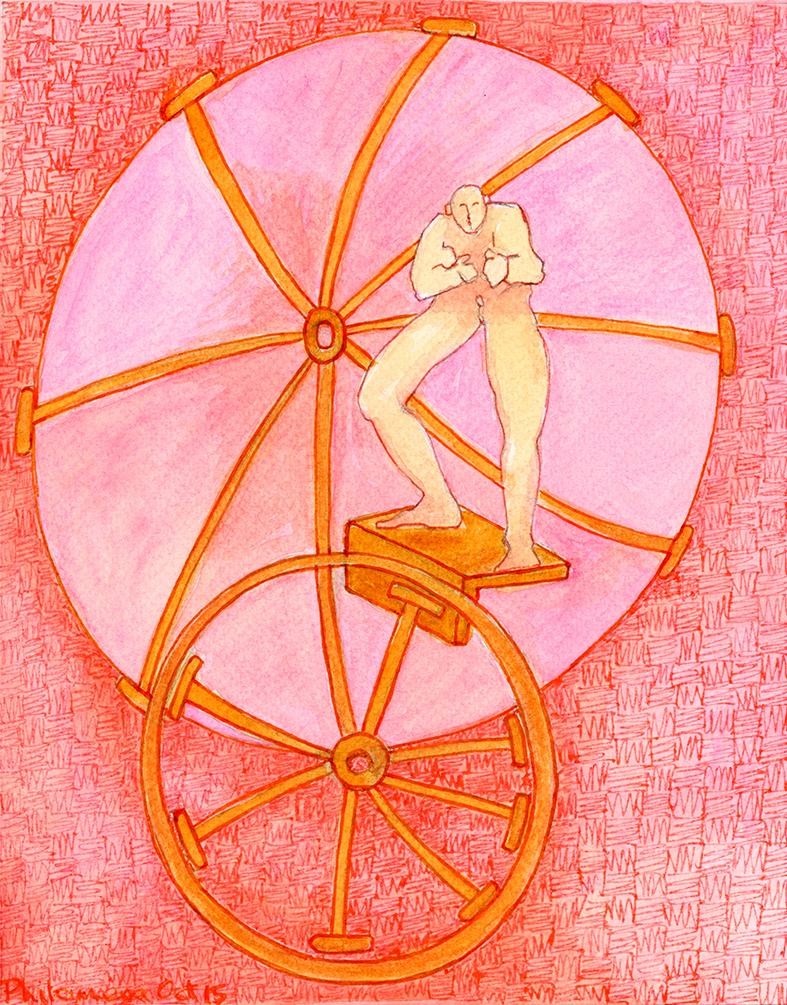 Pink Charioteer | Watercolour, pen & ink | 2018