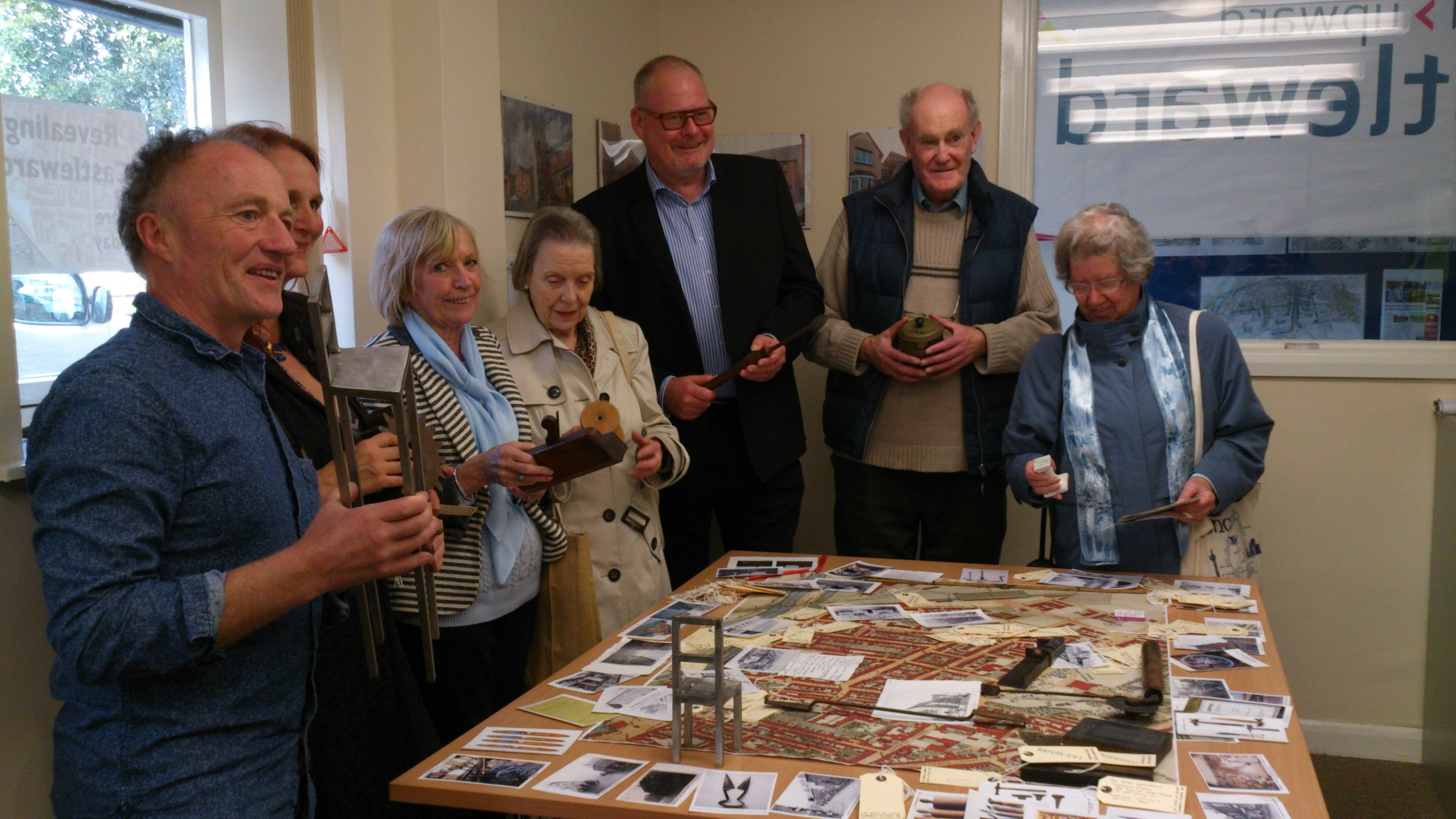 Artists Bernie Rutter and Denis O'Connor at one of the consultation workshops 2014