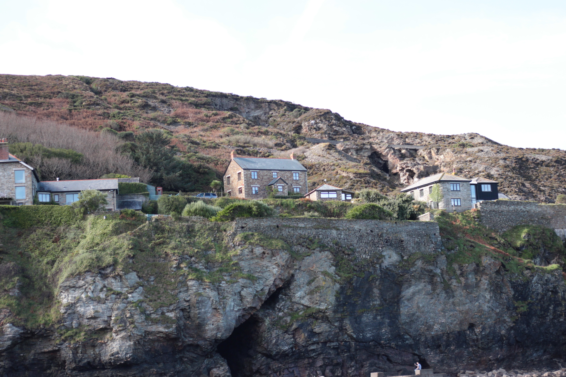 The sweetest cottages along the coast at Trevaunance Cove.
