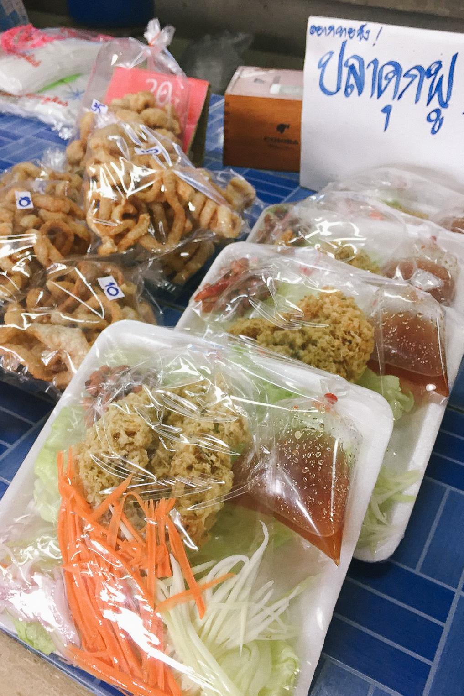 Ready made Pad Thai at a local market