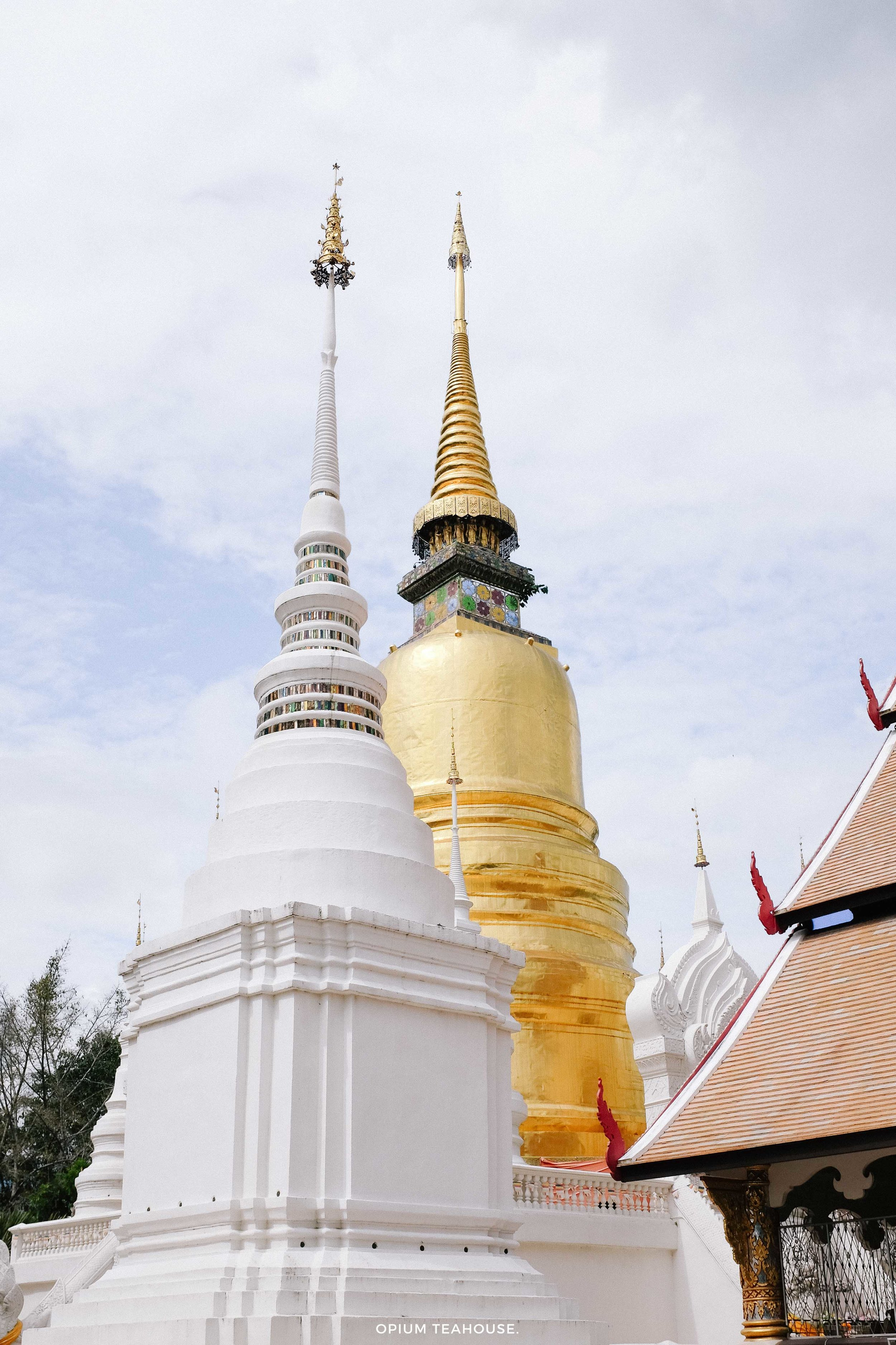 Chedi on the Wat grounds