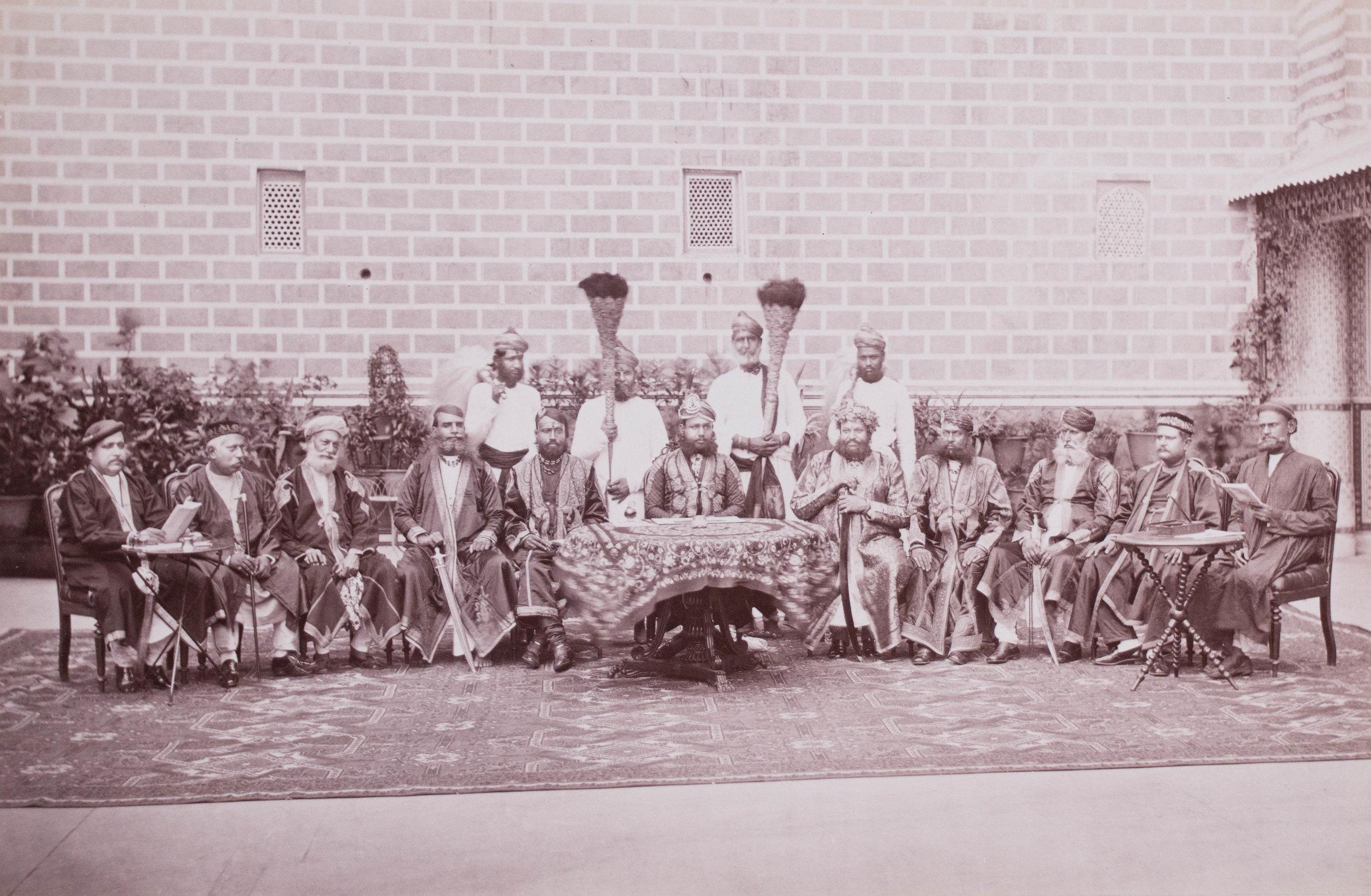 Le maharaja de Jaipur tient un durbar
