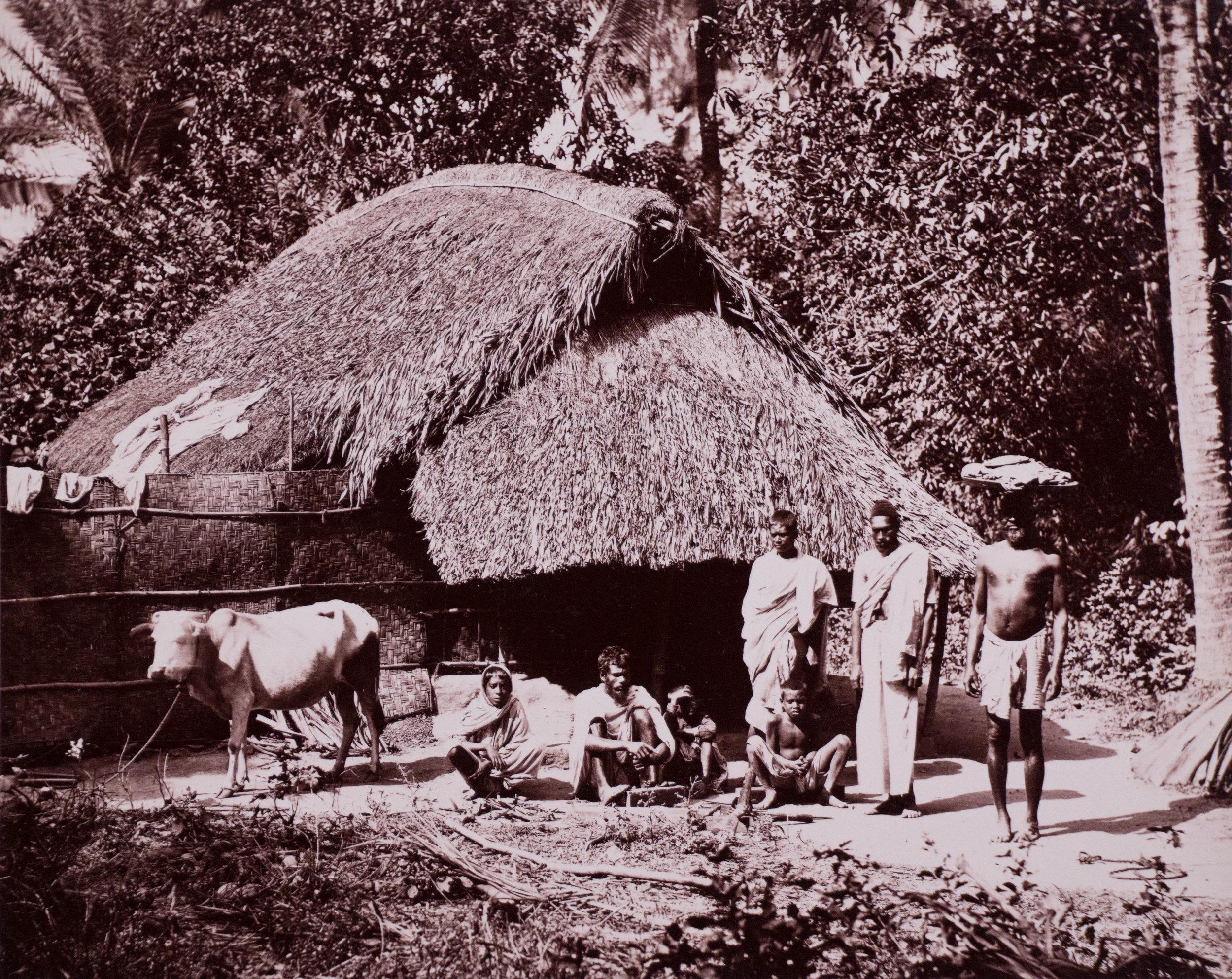 Ferme rustique dans le Bengal