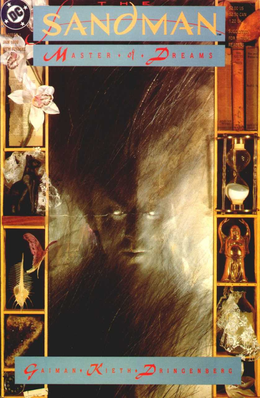 Cover of Sandman Issue 1 by Dave McKean