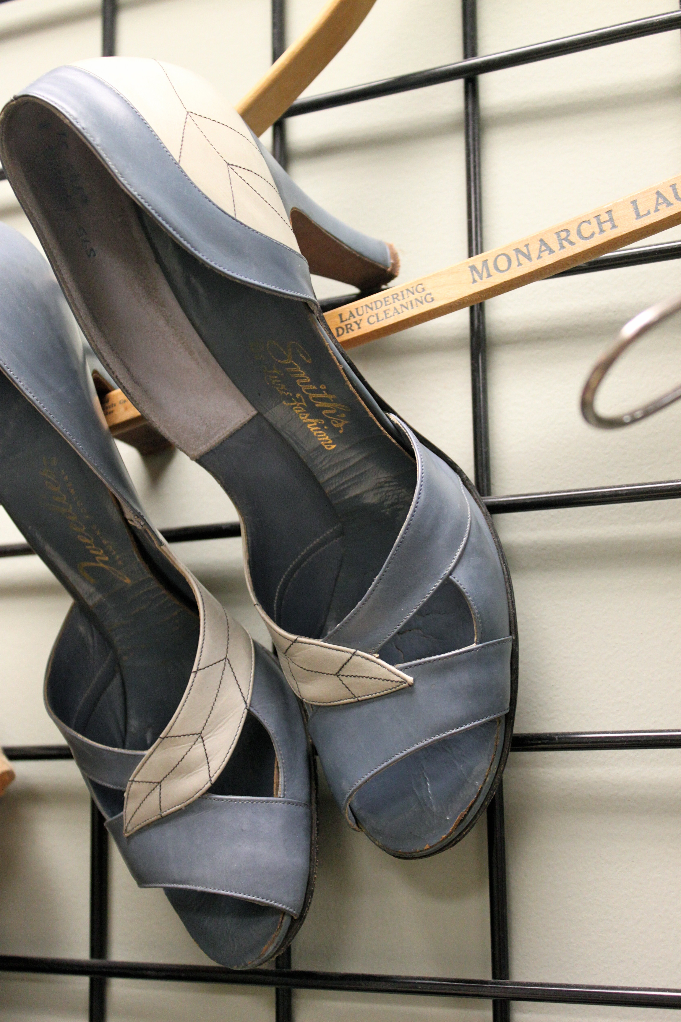Clever way to display a great pair of pumps.