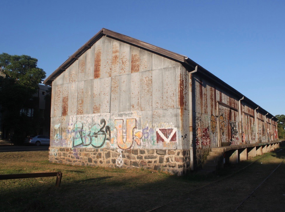 And this, which looked to be a not-so-old structure that had seen better days.