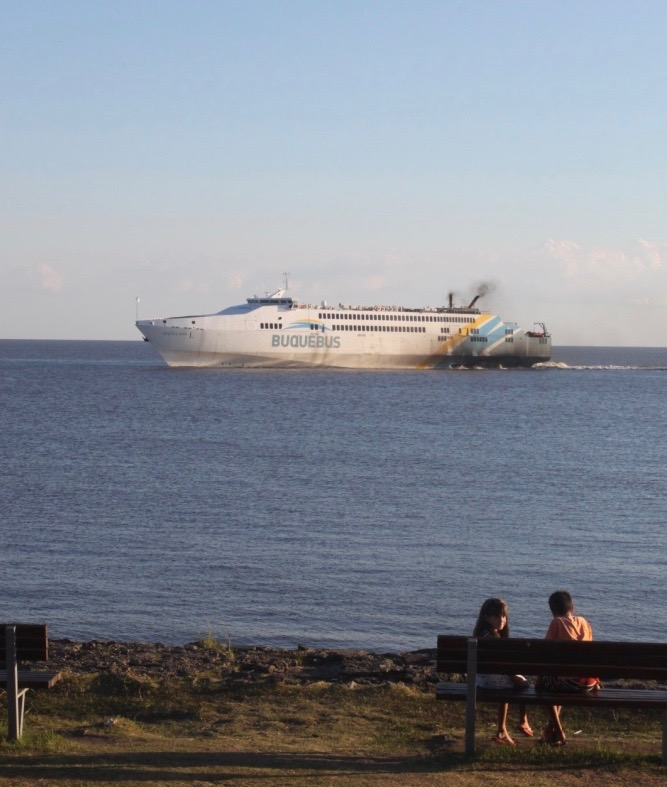 When the day was done, we took this ferry (the Buquebus) back to B.A.