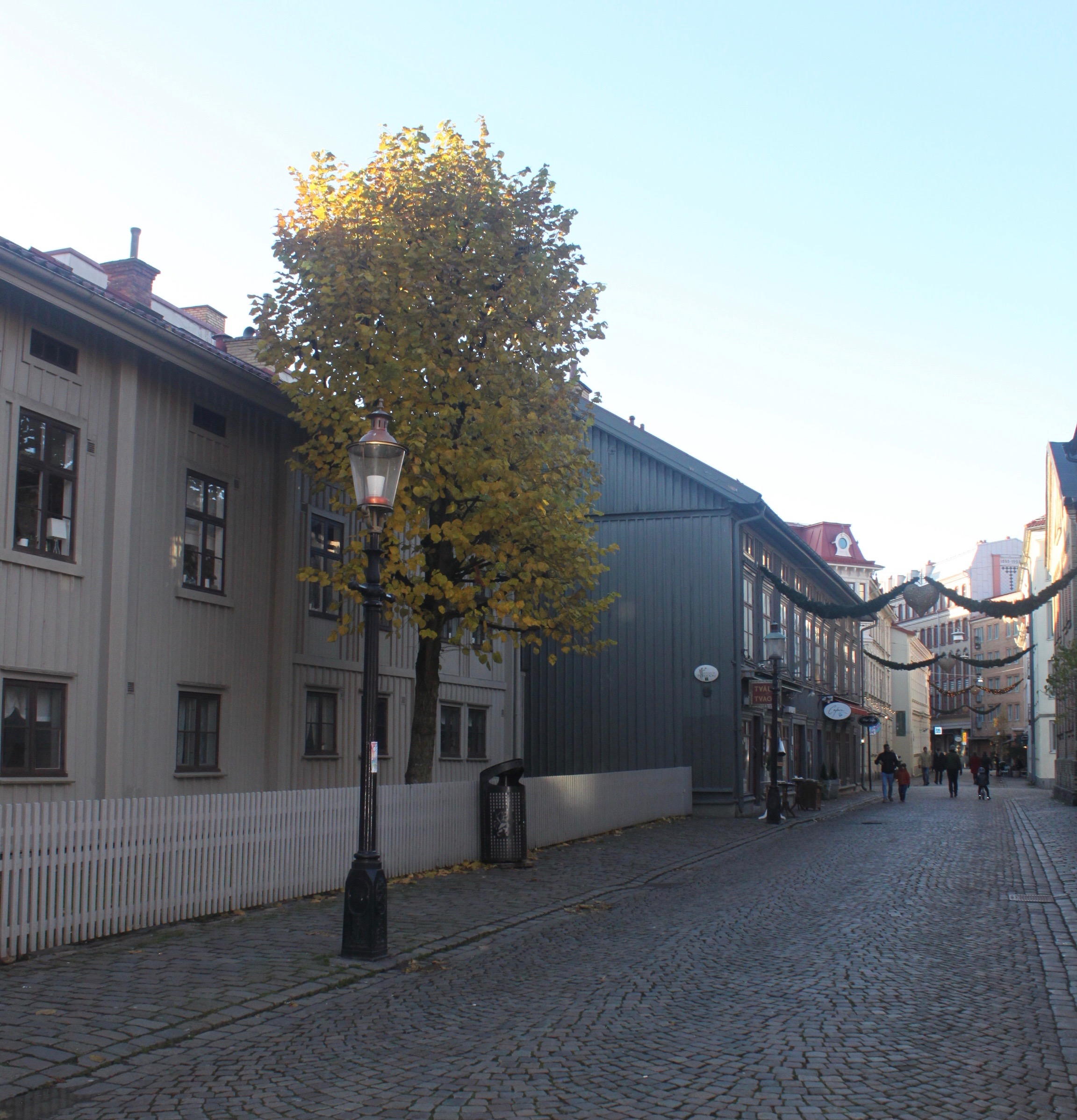 An afternoon view of the main drag, Haga Nygata. The cobblestone was incredible!