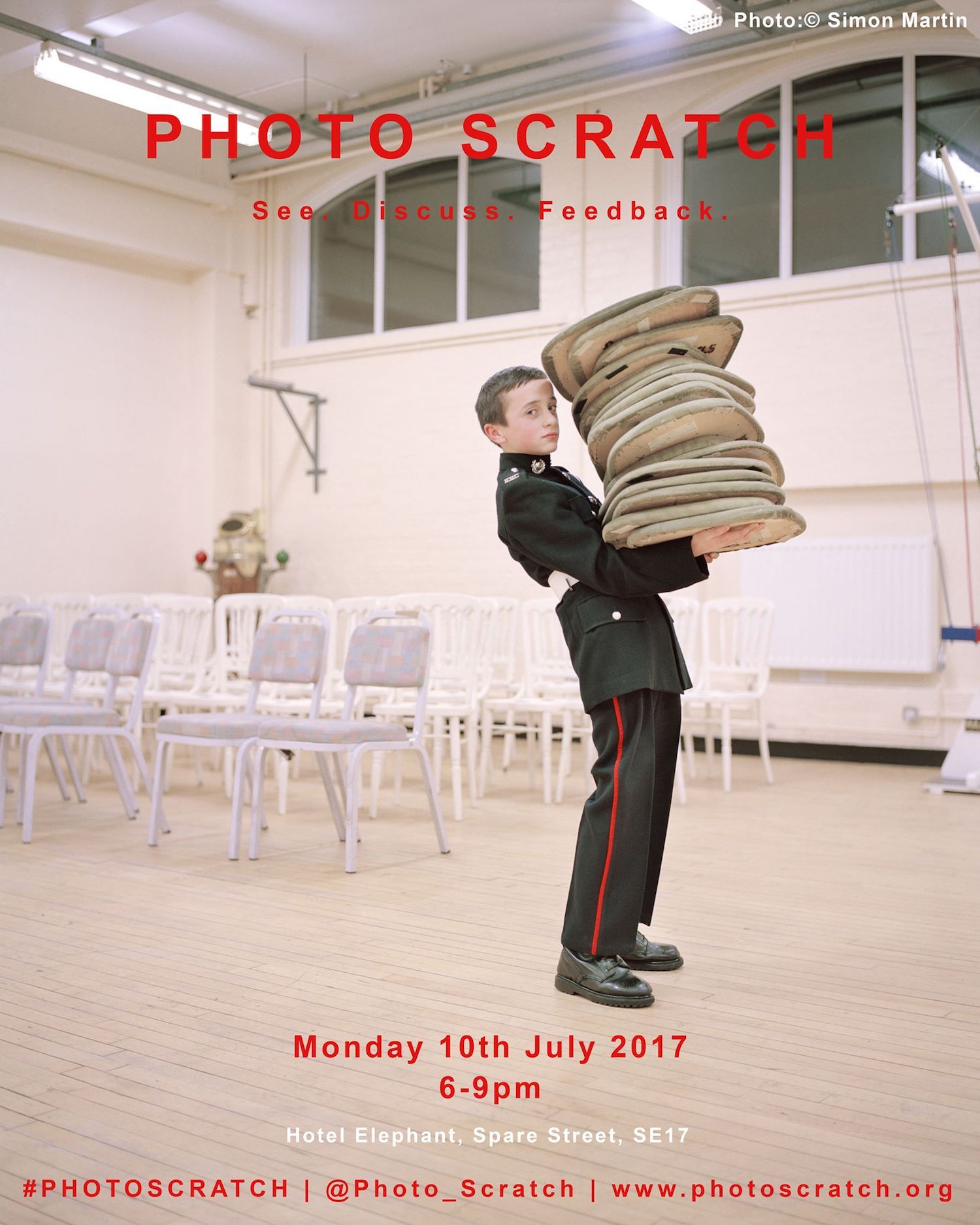 July 2017 Photo Scratch poster. Image © Simon Martin