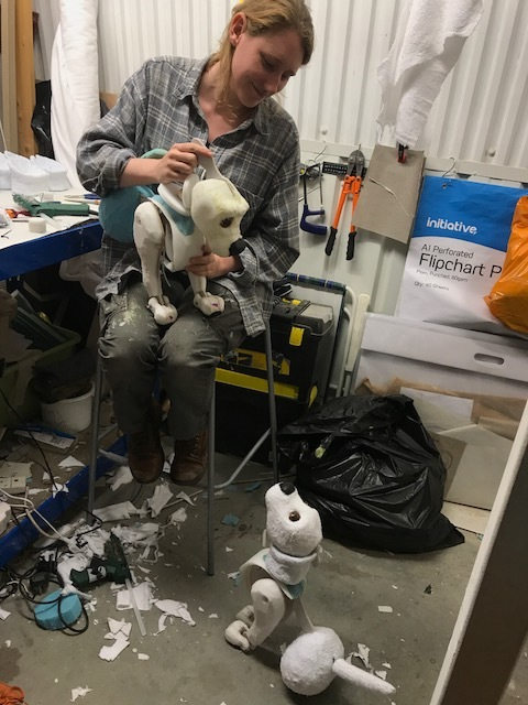 Puppets are coming alive in Jo's studio