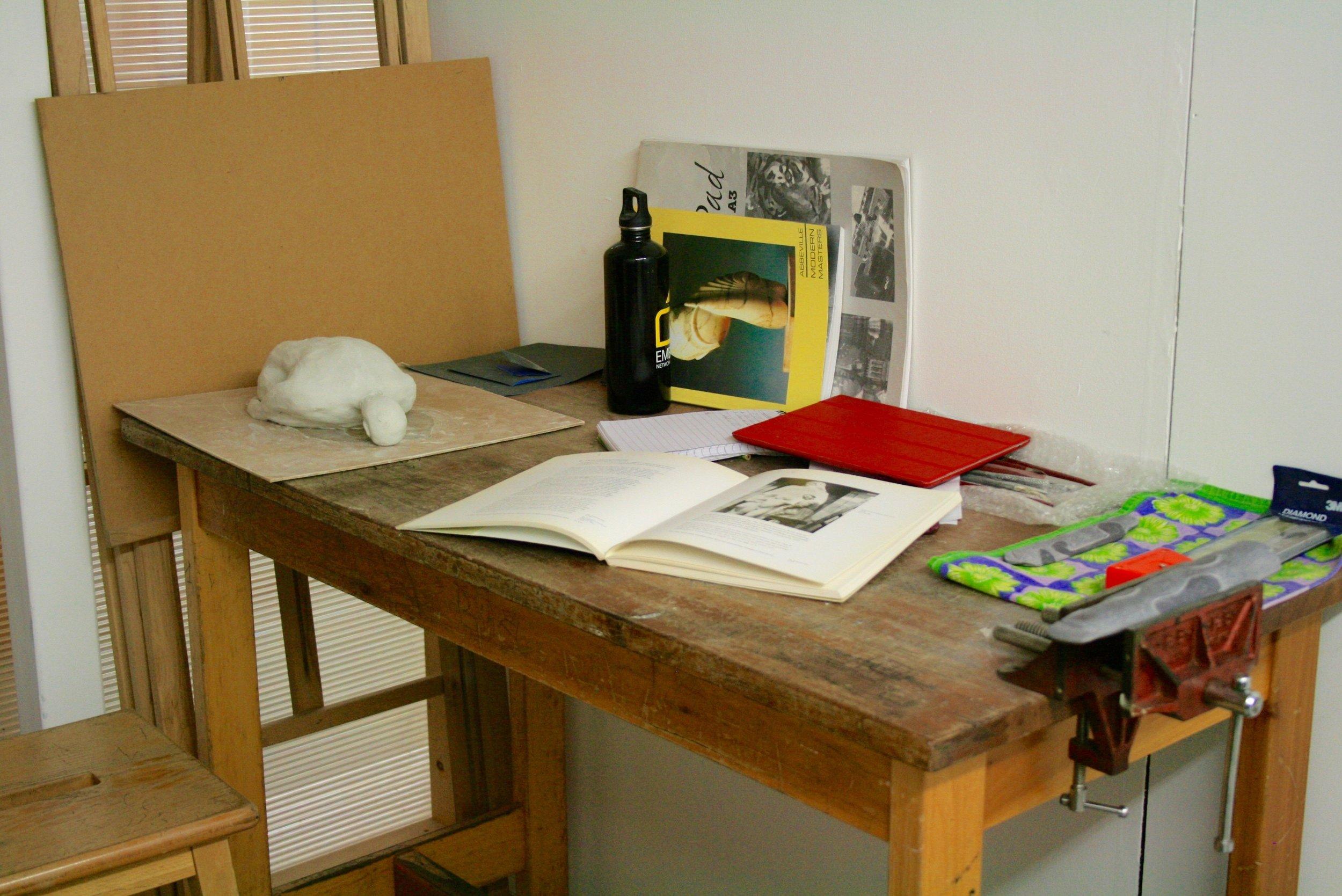 Judith Pollock's Workspace at Hotel Elephant