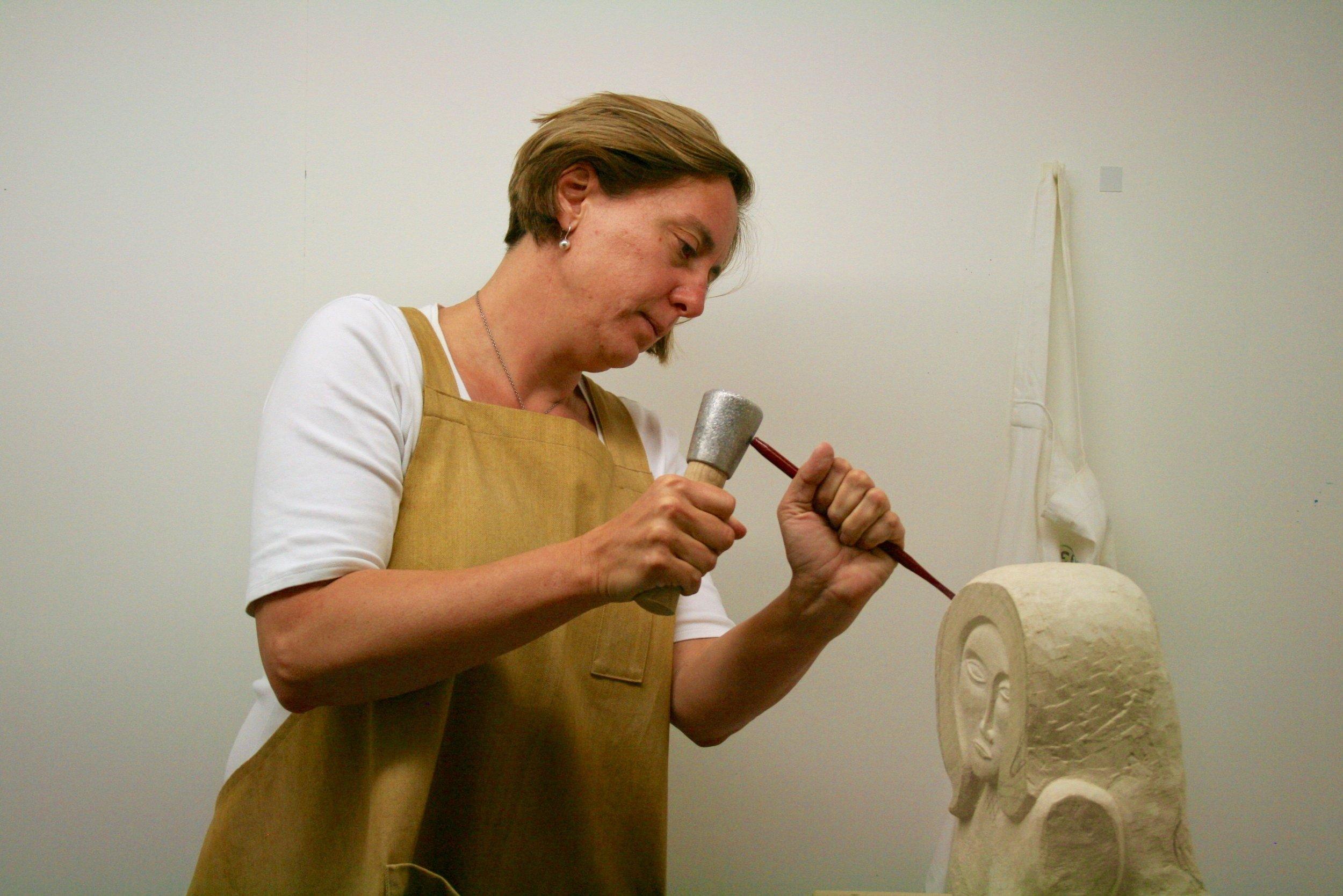 Judith Pollock working
