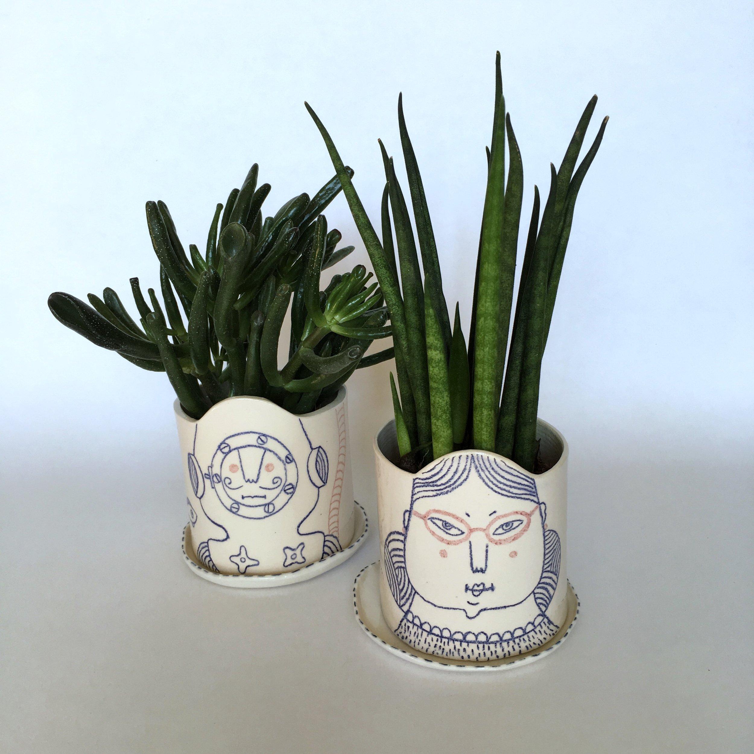 G & K Smith Illustrated pot