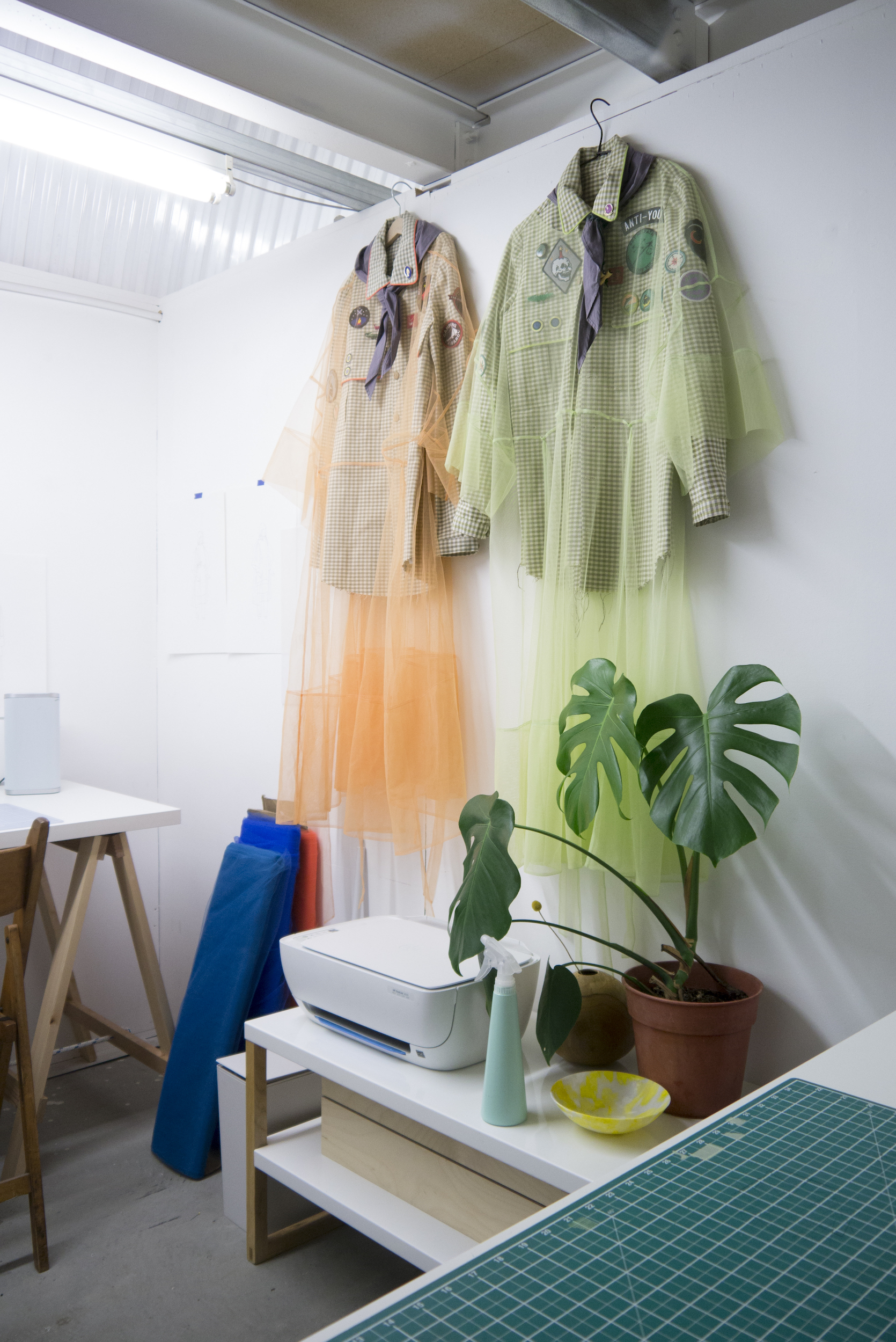 Martha Webb's Costume hanging in her studio at Spare Street ©