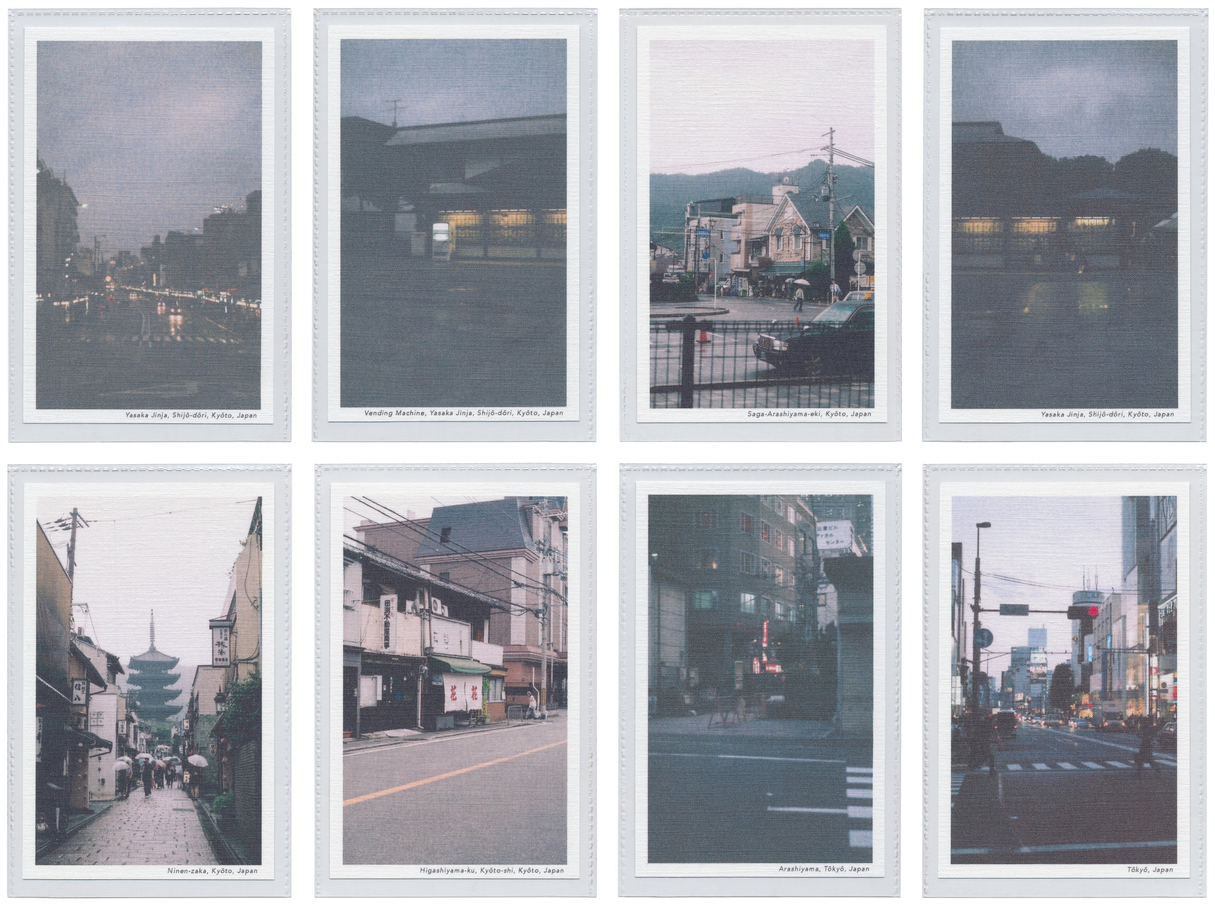 Collection of linen postcards featuring Japan, Martha Webb ©